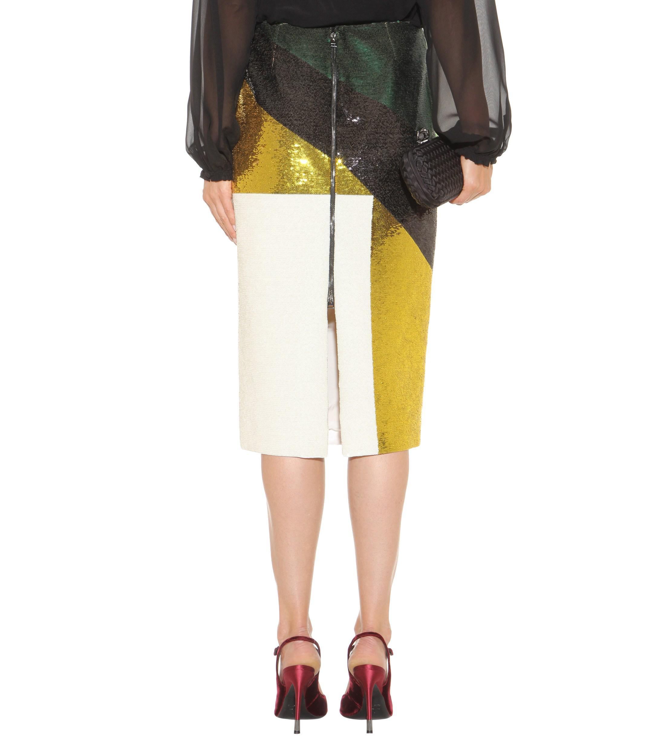 Tom Ford Sequin-embellished Skirt in Green
