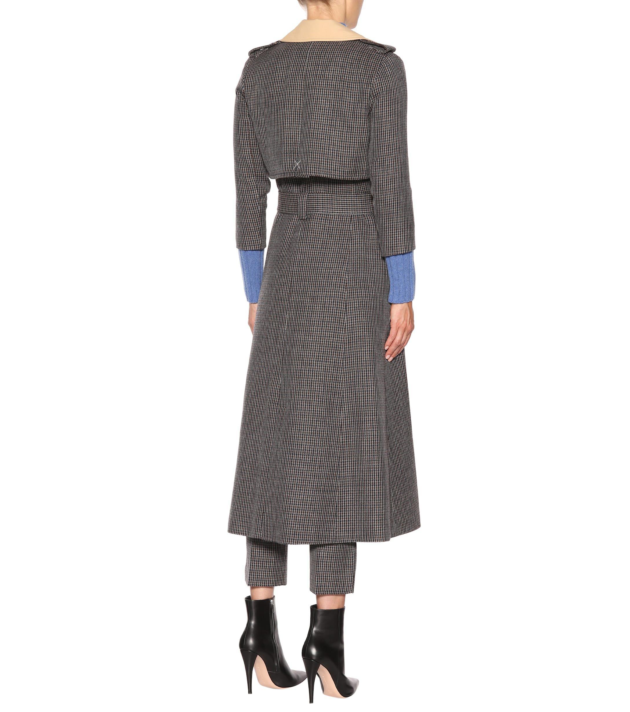 Trench-coat en tweed Charlotte Khaite