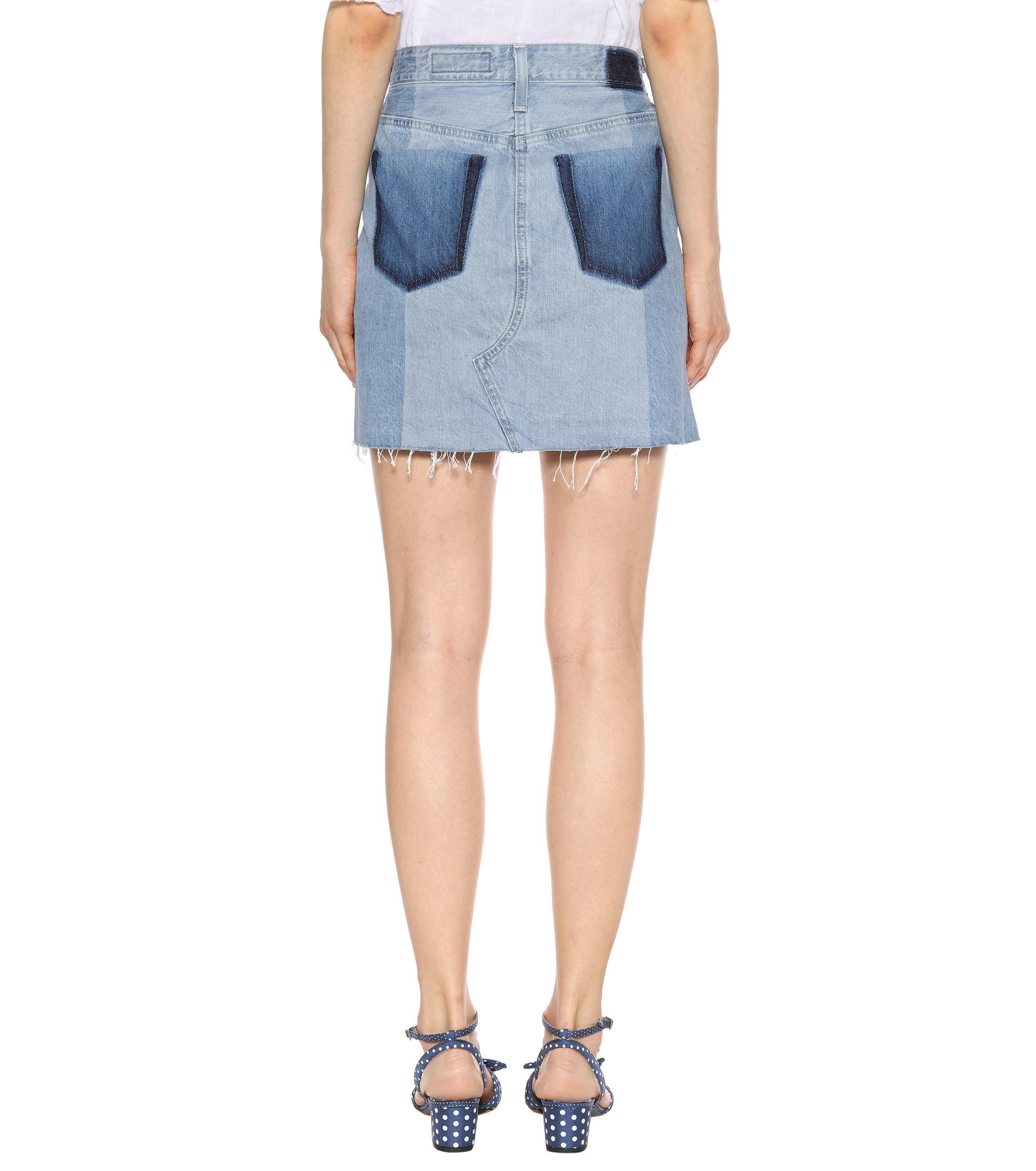 AG Jeans The Sandy Denim Miniskirt in Blue