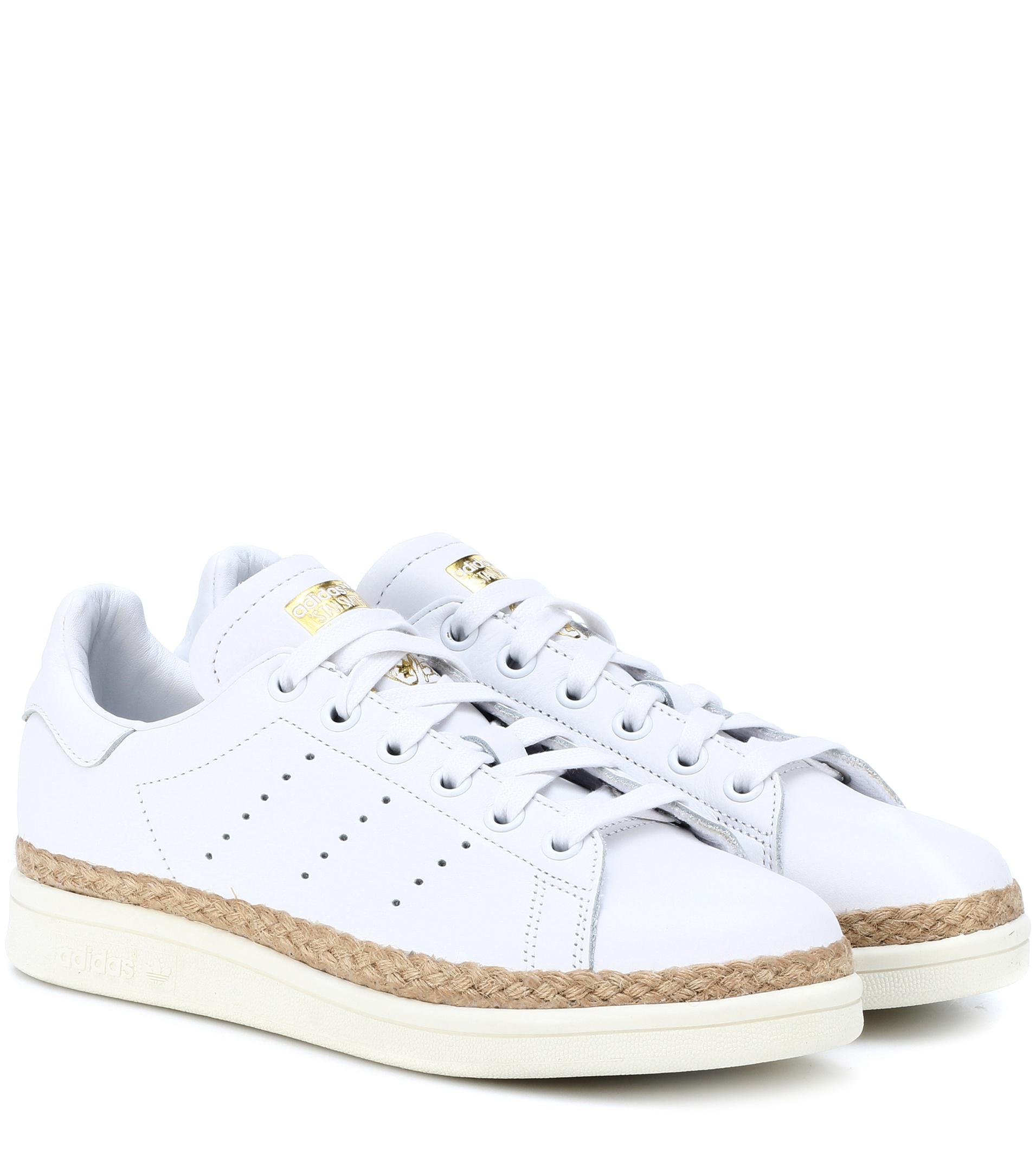 adidas originali stan smith nuovi audaci scarpe bianche lyst