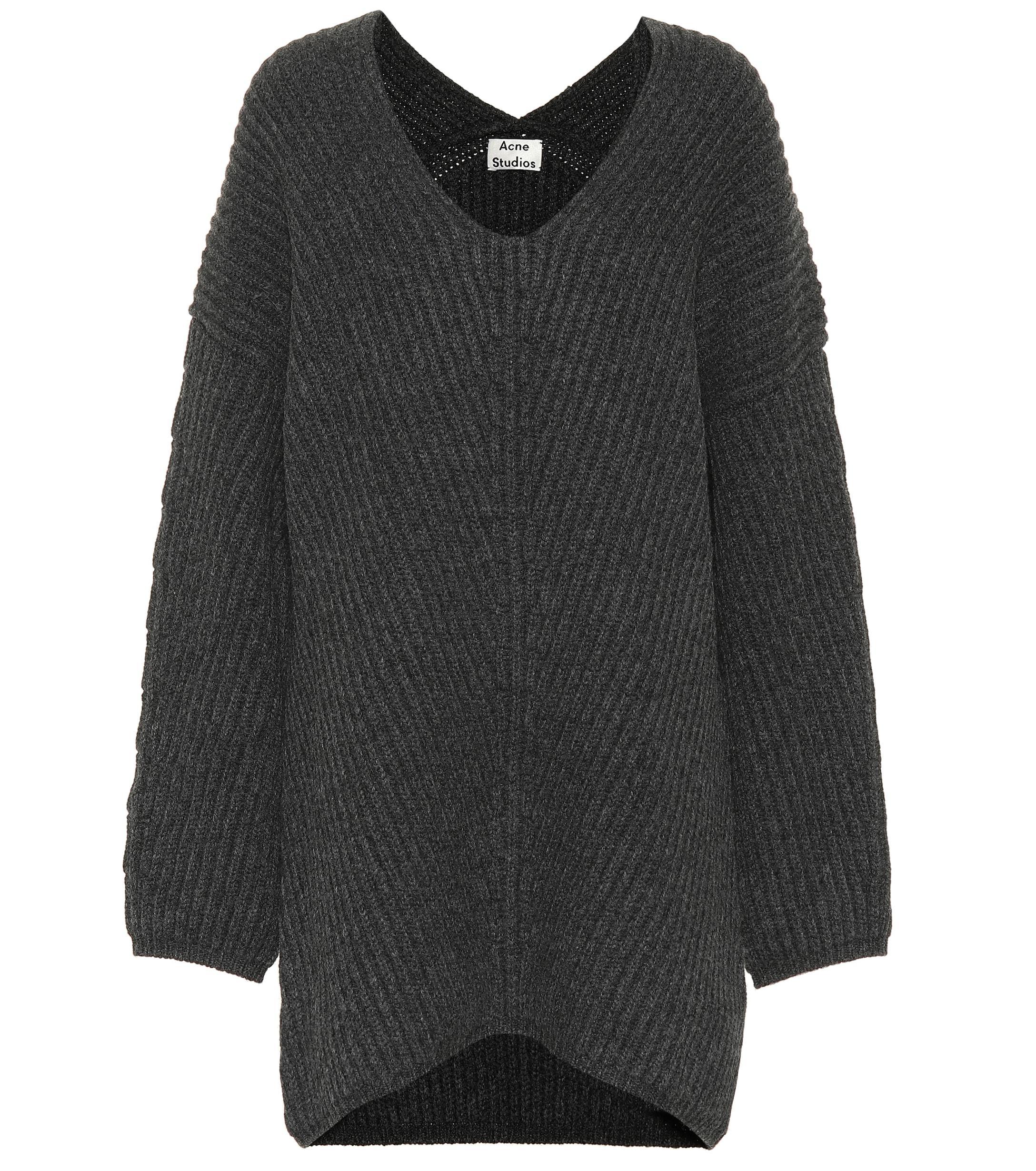 Acne - Gray Deka Clean Wool Sweater - Lyst. View fullscreen b551b4369