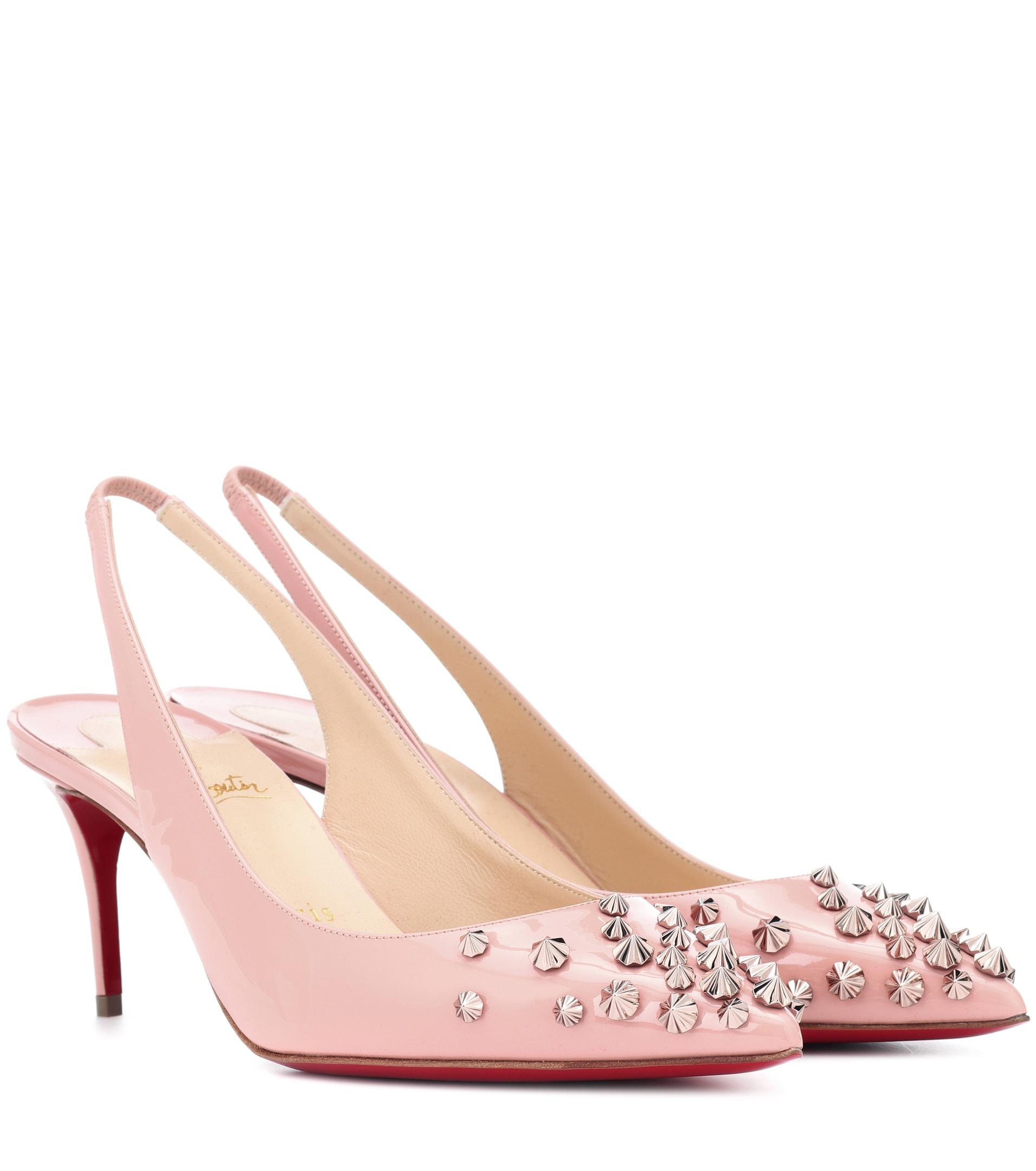 uk availability 1910c 3a85d Women's Pink Drama Sling 70 Patent Leather Pumps