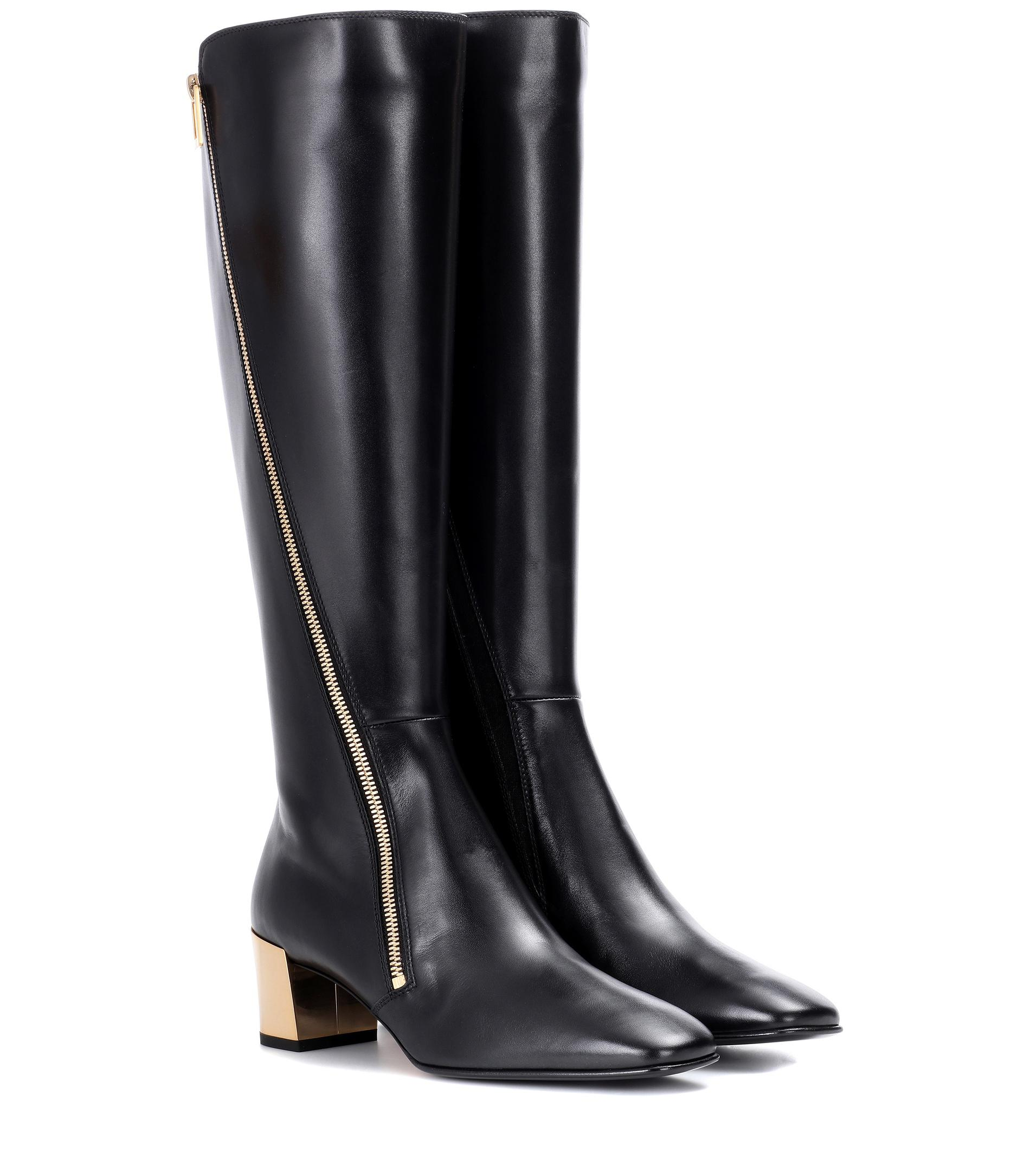 Polly Zip leather boots Roger Vivier uOynhGhN