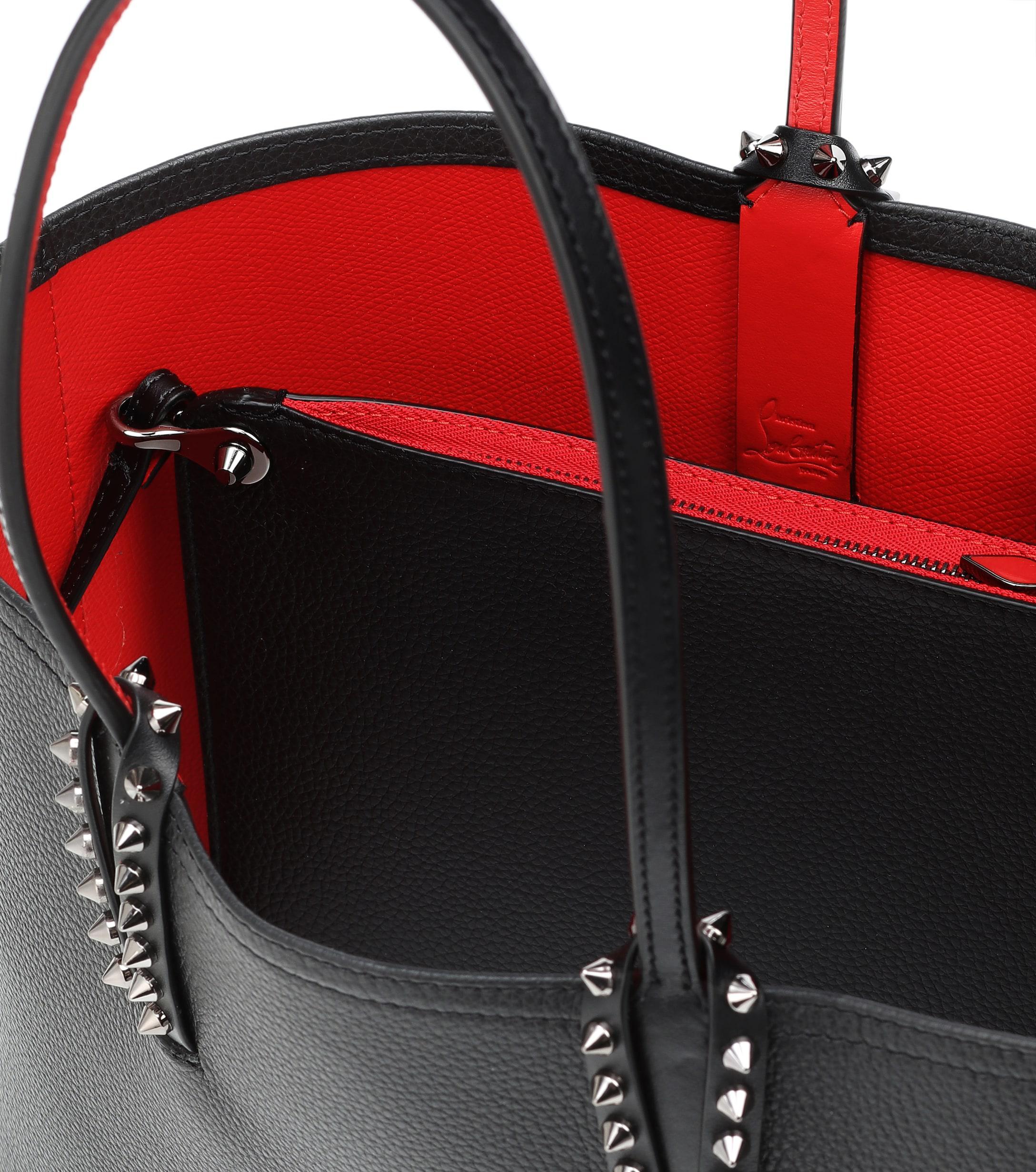 4155ceda5cfa Lyst - Cabas Cabata Small en cuir Christian Louboutin en coloris Noir