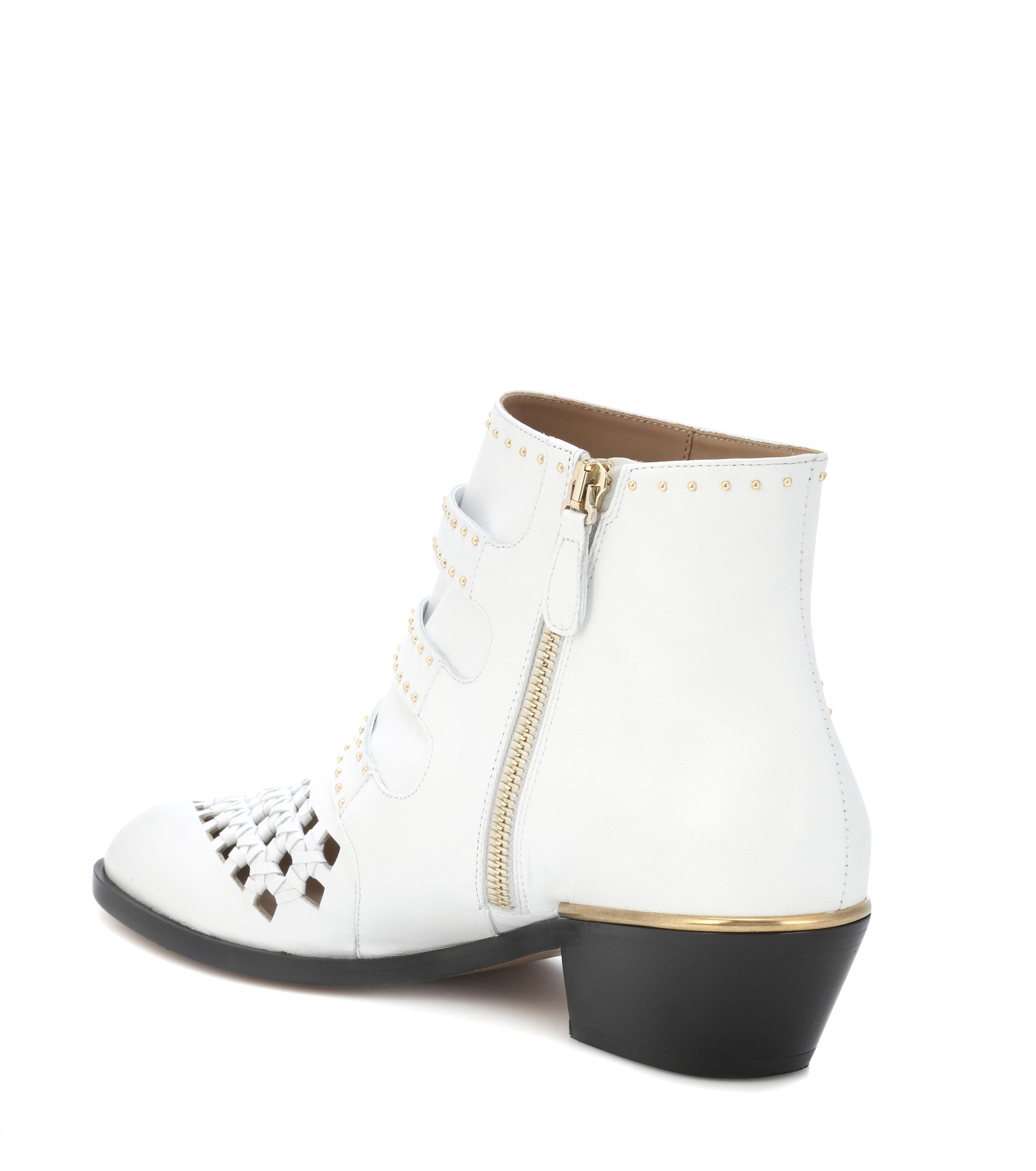Botines de caña alta Chloé de Cuero de color Blanco: ahorra un 25 %