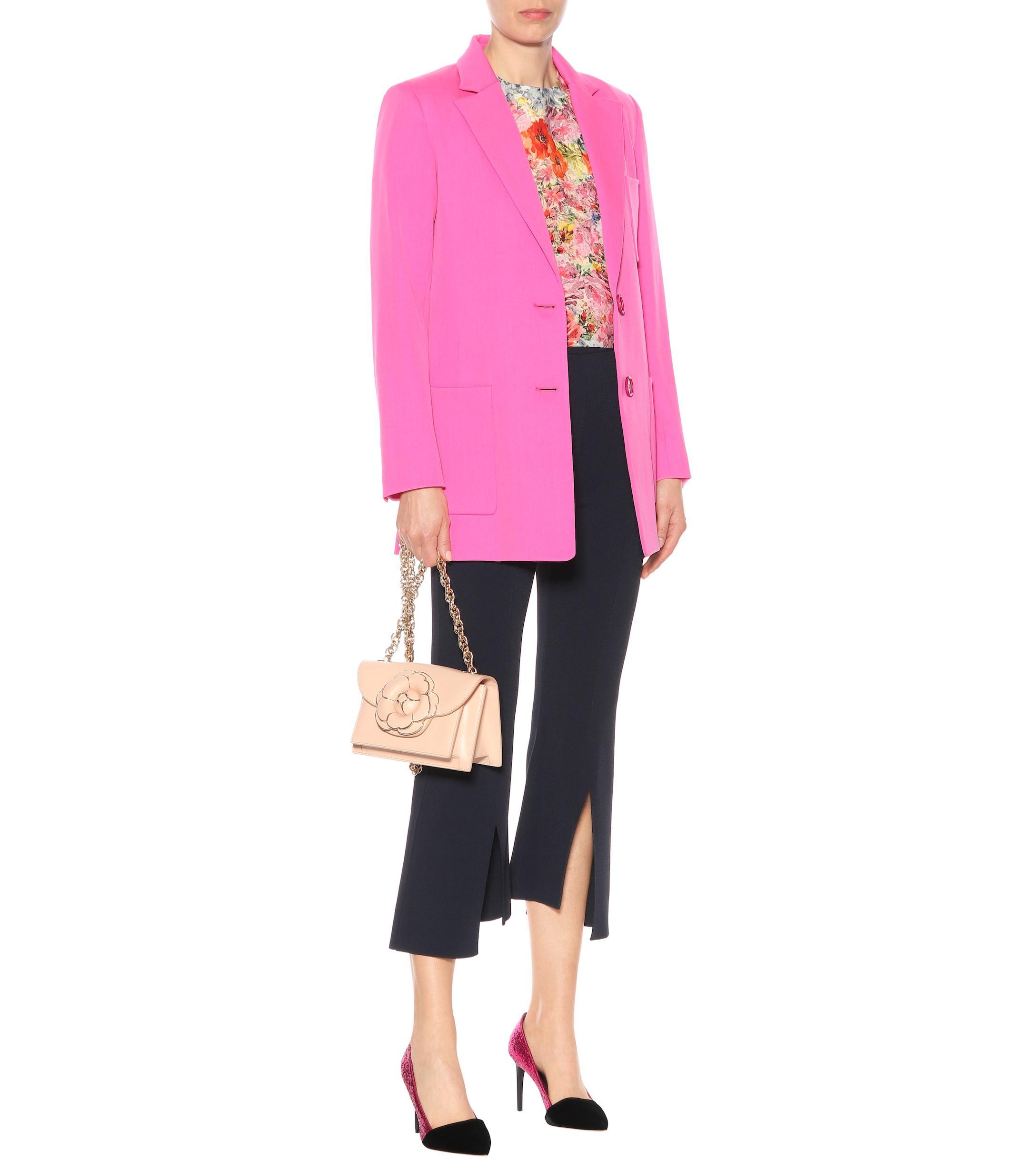 Zapatos de salón de purpurina y terciopelo Oscar de la Renta de Terciopelo de color Rosa