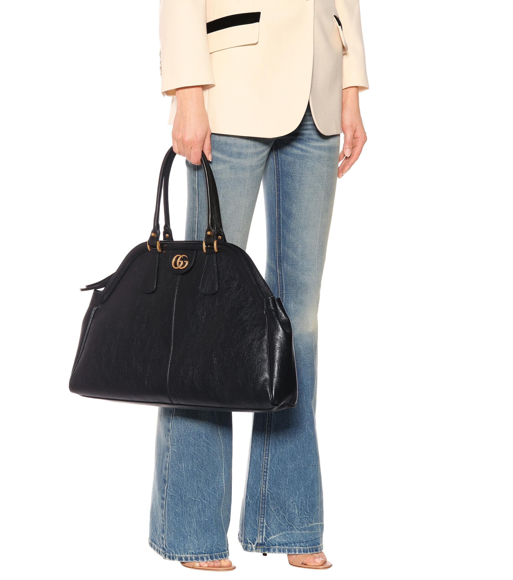 0d12154b00d Gucci - Black Re(belle) Large Leather Shoulder Bag - Lyst. View fullscreen