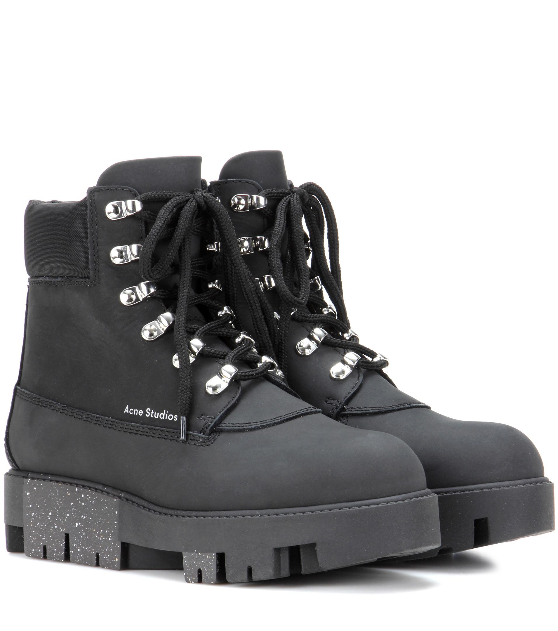a54233c1821 Acne Black Telde Leather Ankle Boots