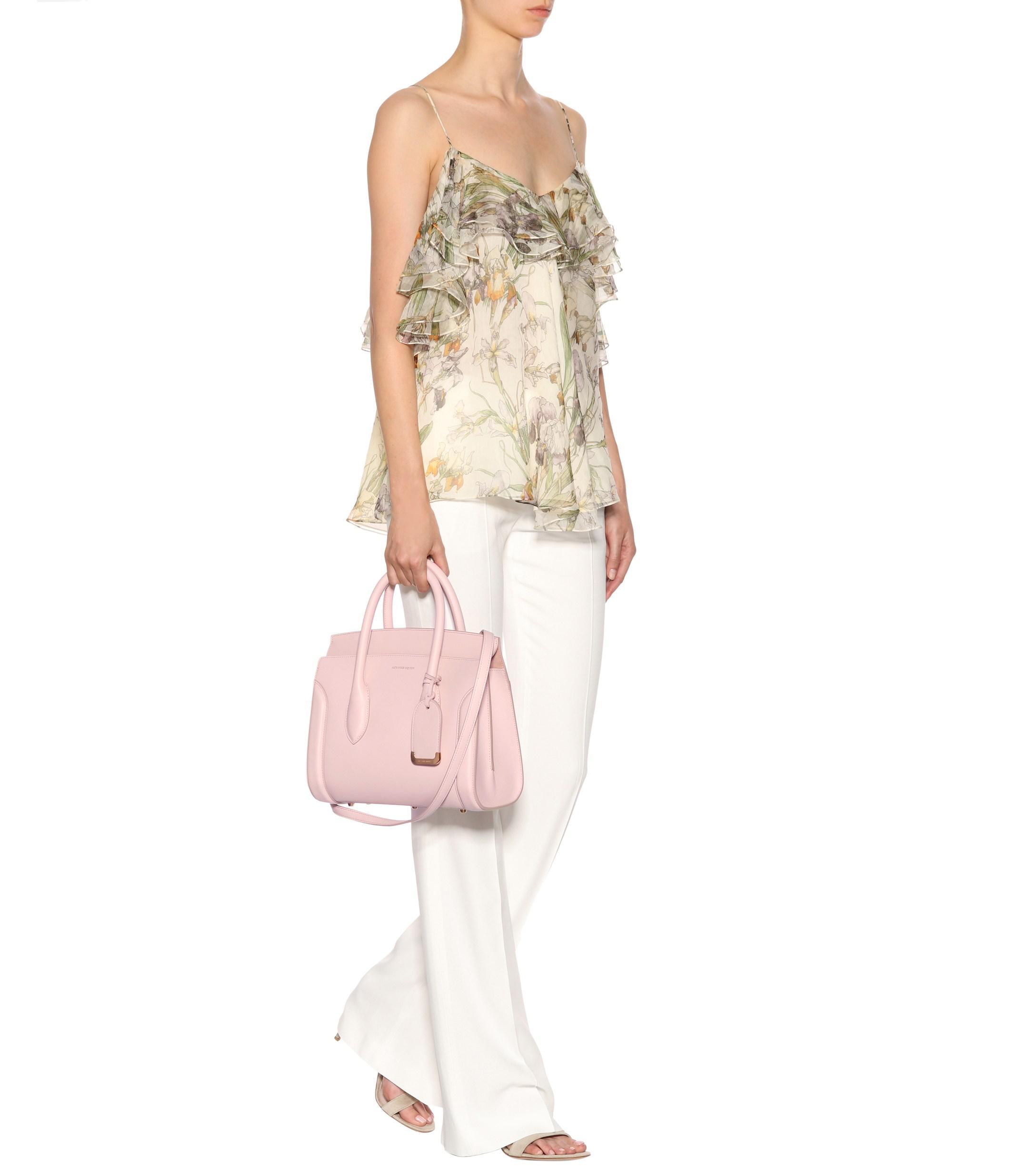 b78ac79f49f3 Alexander McQueen Heroine 30 Leather Shoulder Bag in Pink - Lyst