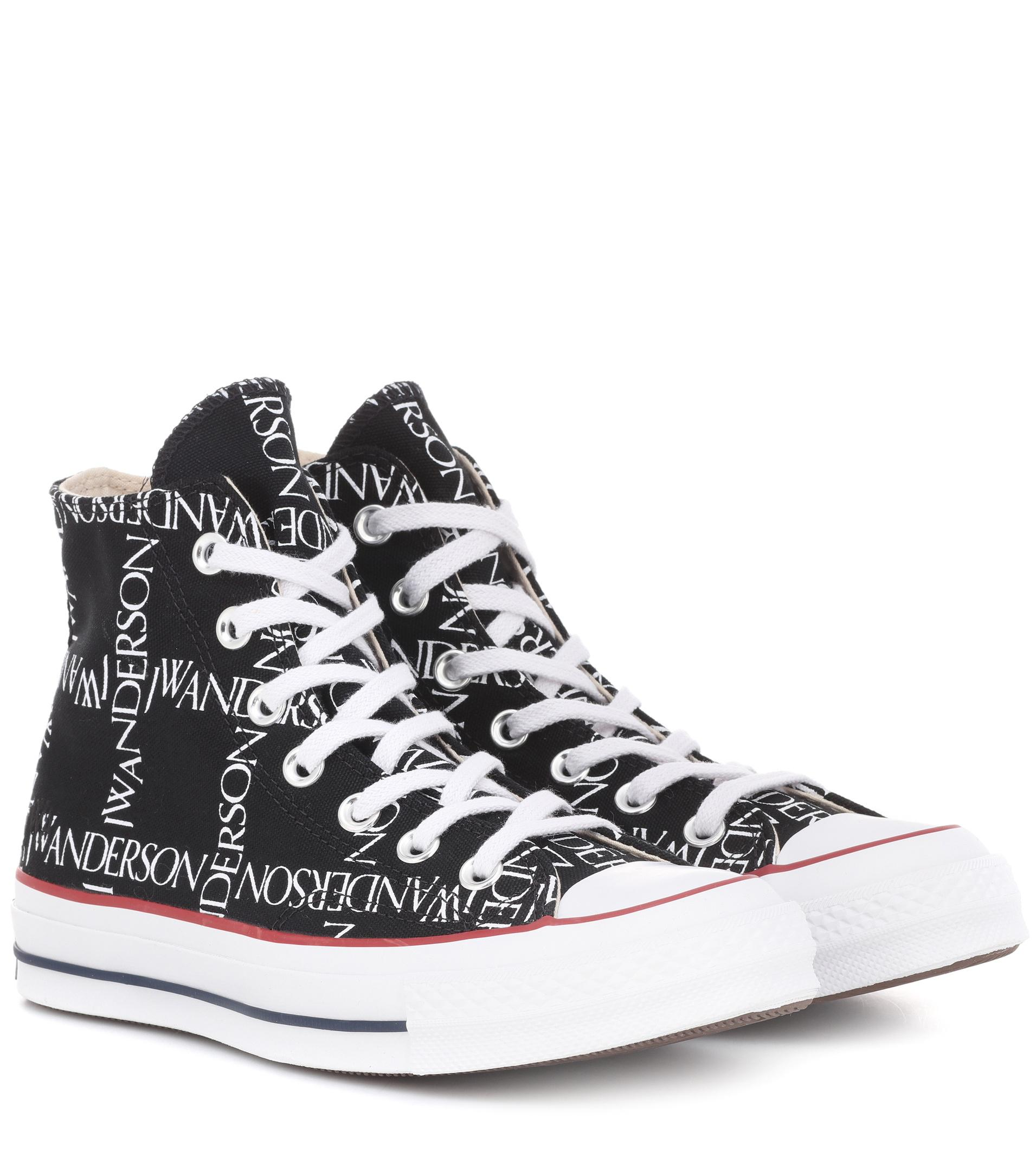 Lyst - J.W. Anderson X Converse Chuck 70 Logo-print Sneakers in Black 5d0a402b0