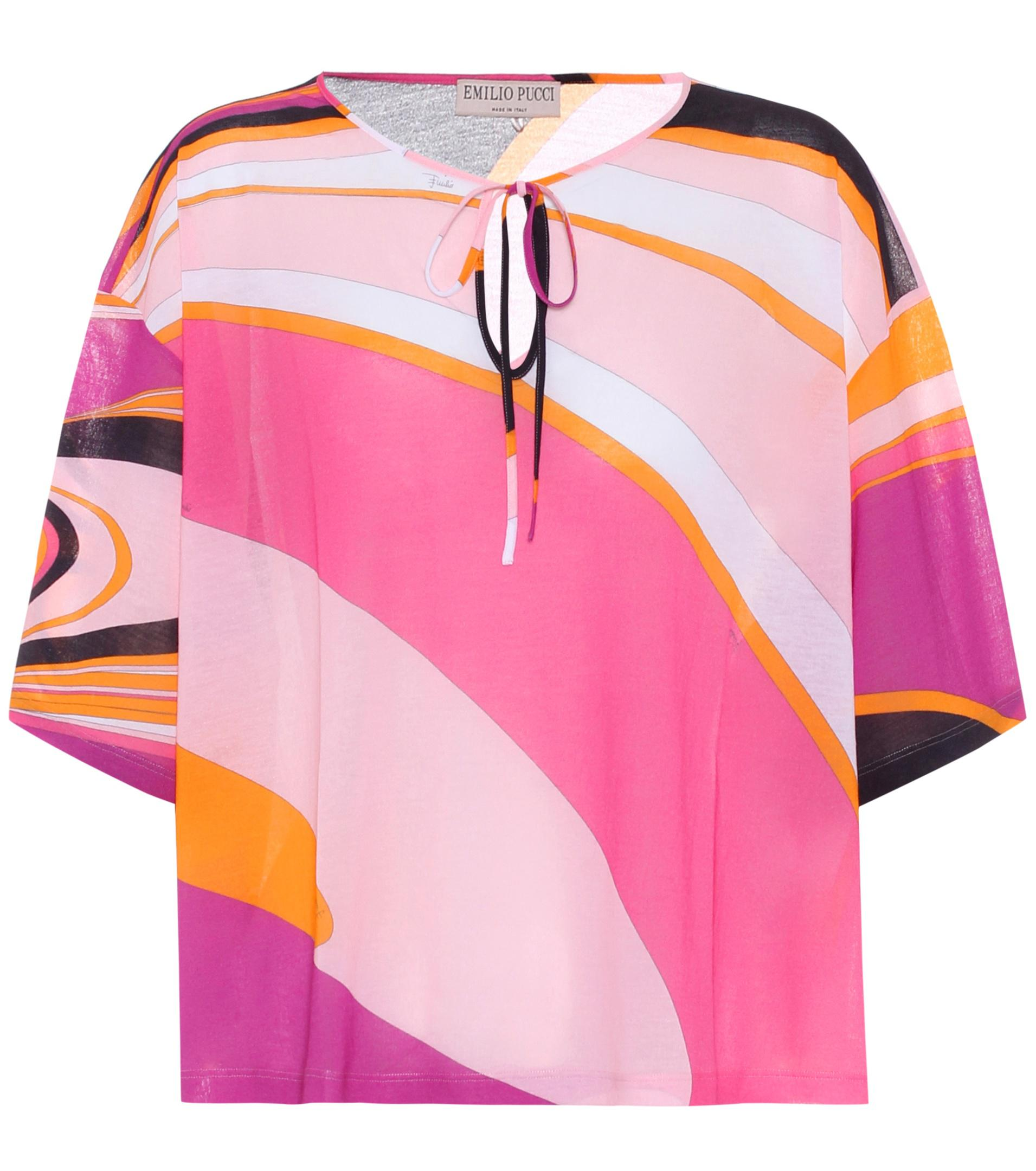 Sale 2018 Purchase Online printed shirt - Pink & Purple Emilio Pucci TGXgQ5xE6c
