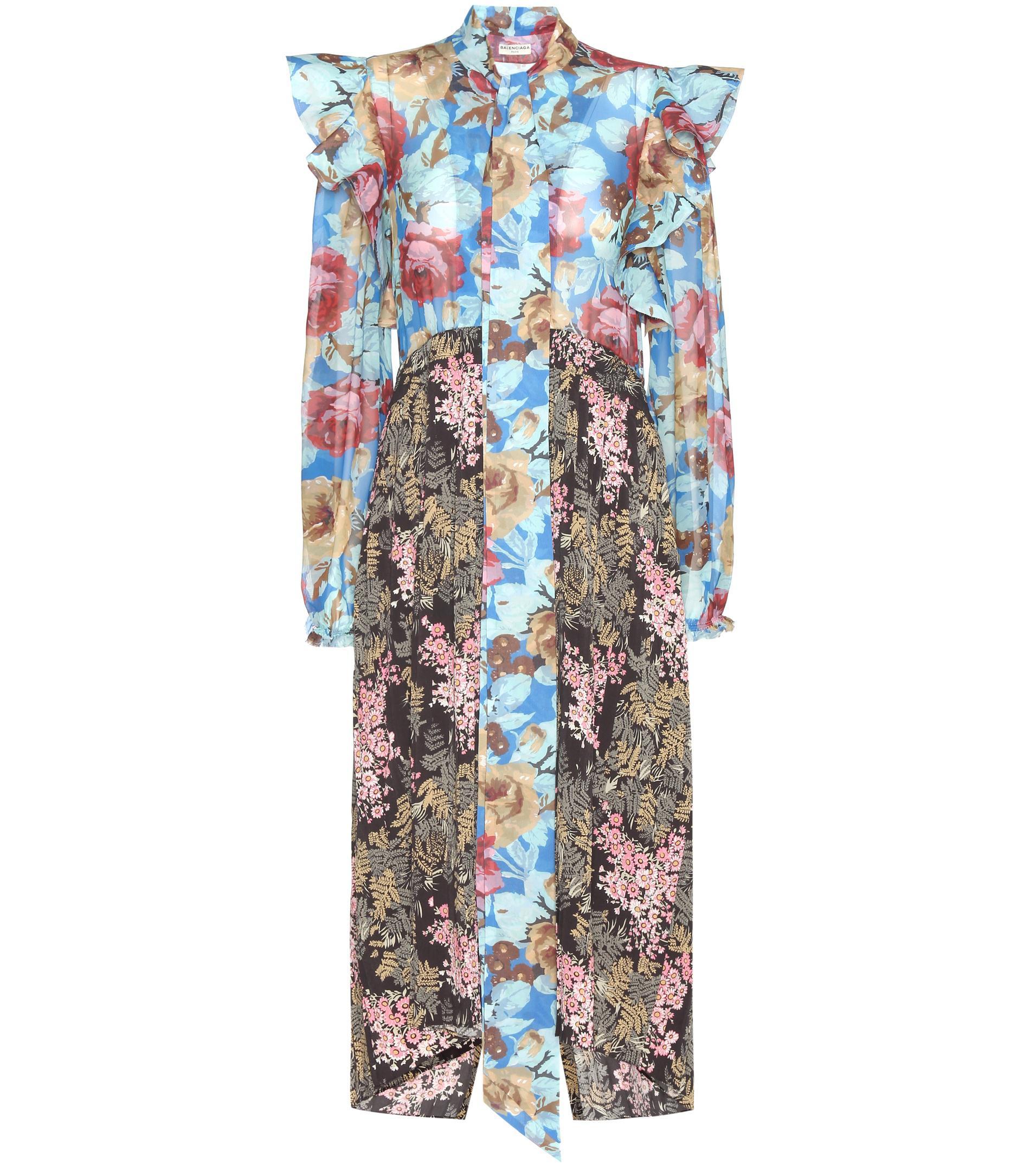 ruffled floral dress - Multicolour Balenciaga zZ0bkLgaW