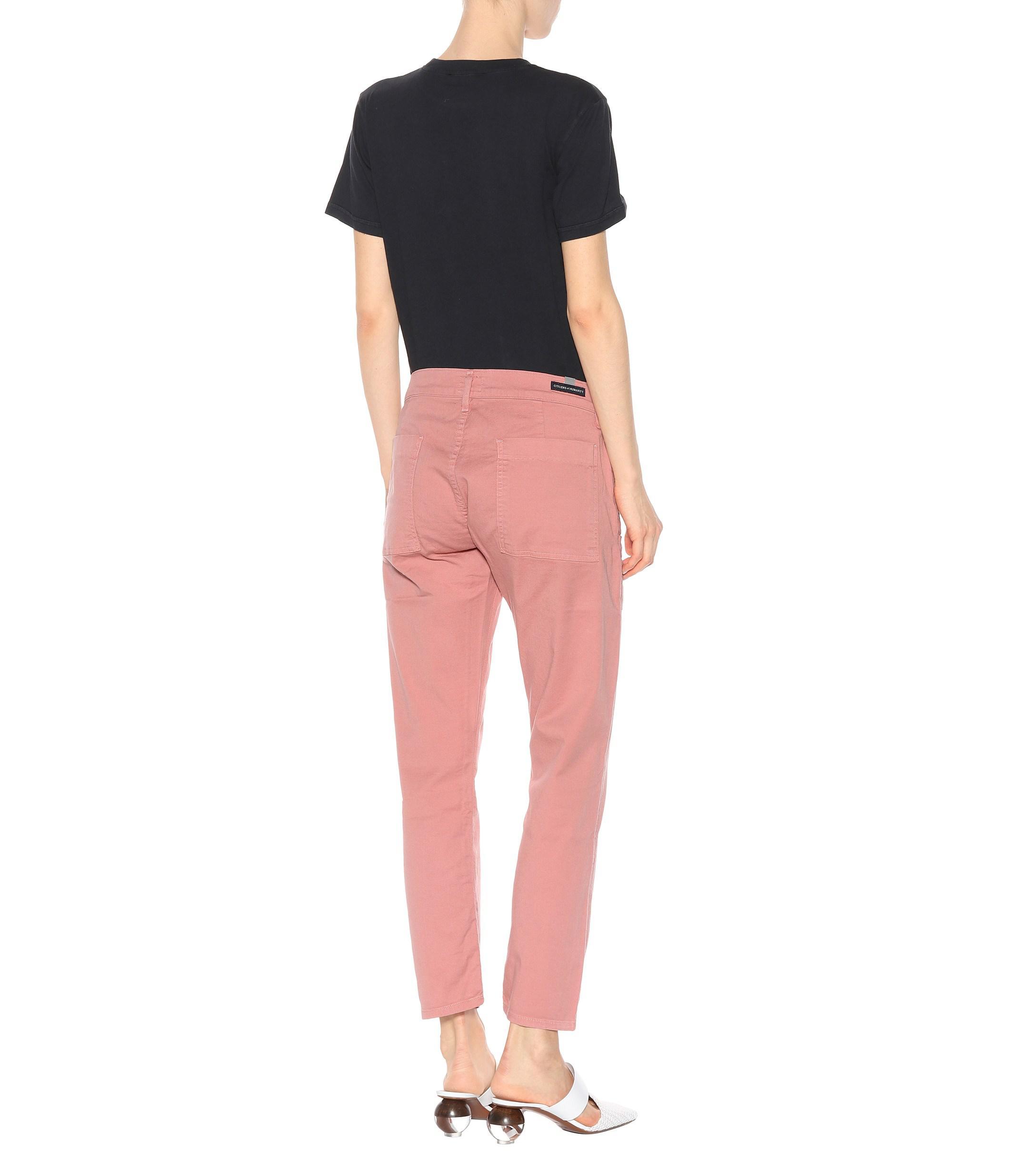 Jeans cropped Leah Citizens of Humanity de Denim de color Rosa