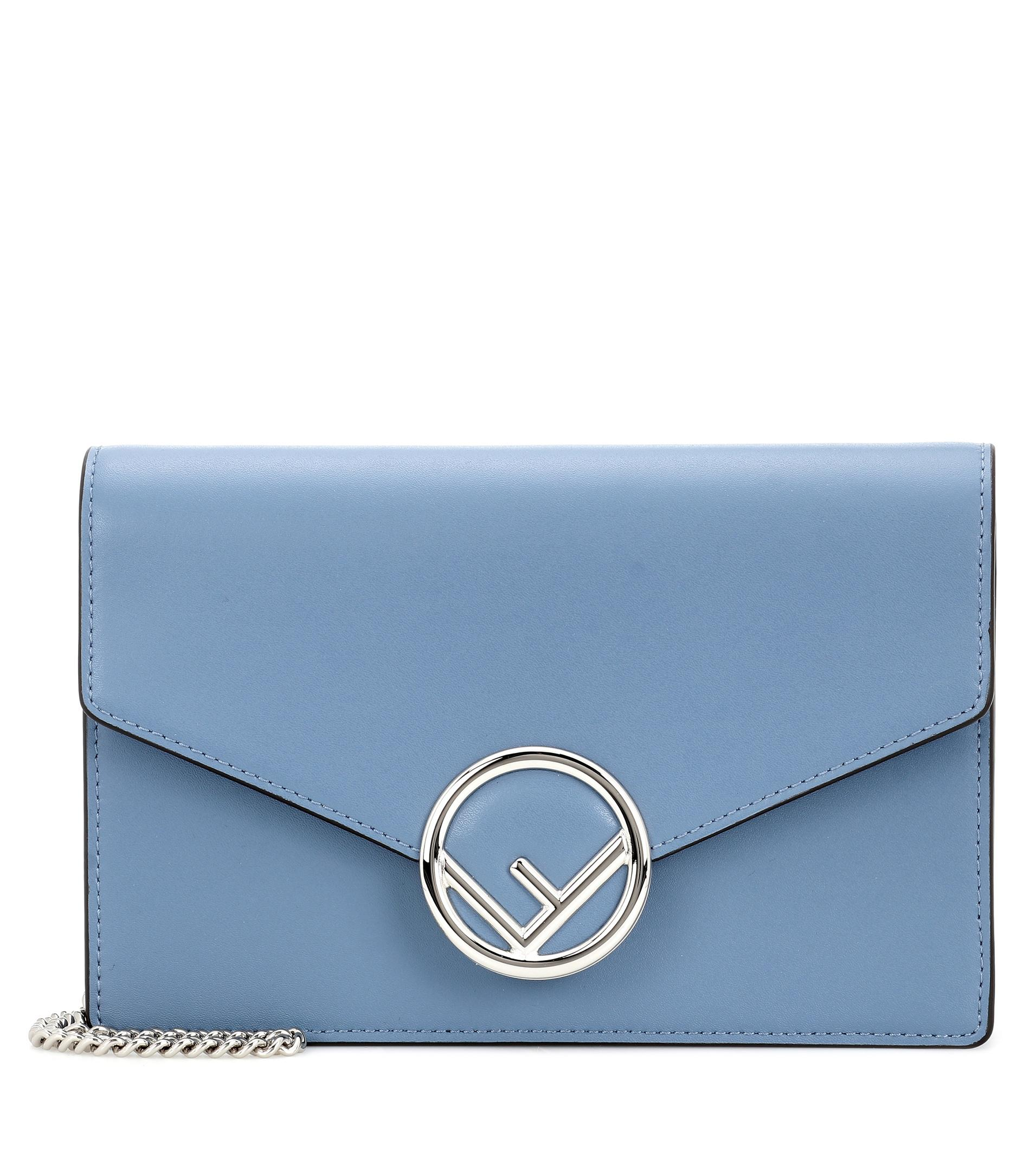 1b025dcc93a8 ... discount code for fendi. womens blue wallet on chain leather shoulder  bag f3d55 59f62 ...