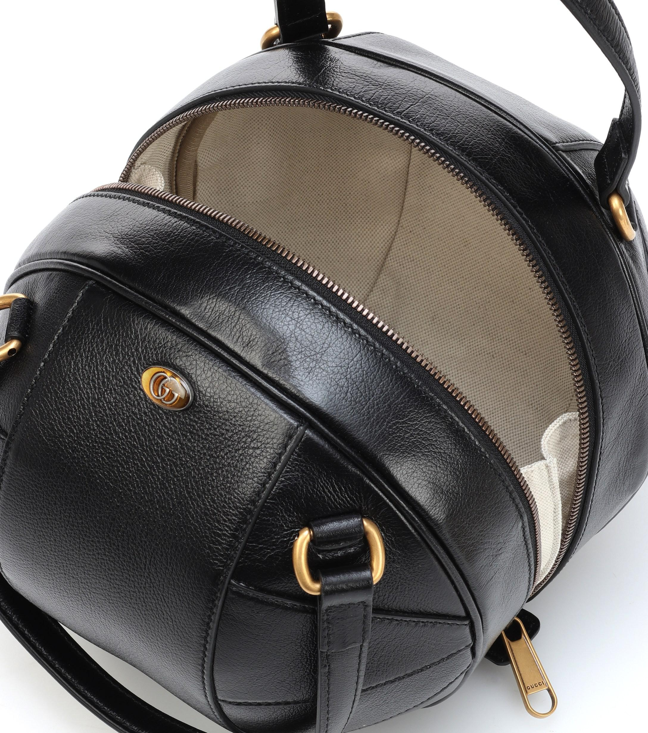 eb322832fab8 Gucci - Black Tifosa Small Leather Tote - Lyst. View fullscreen