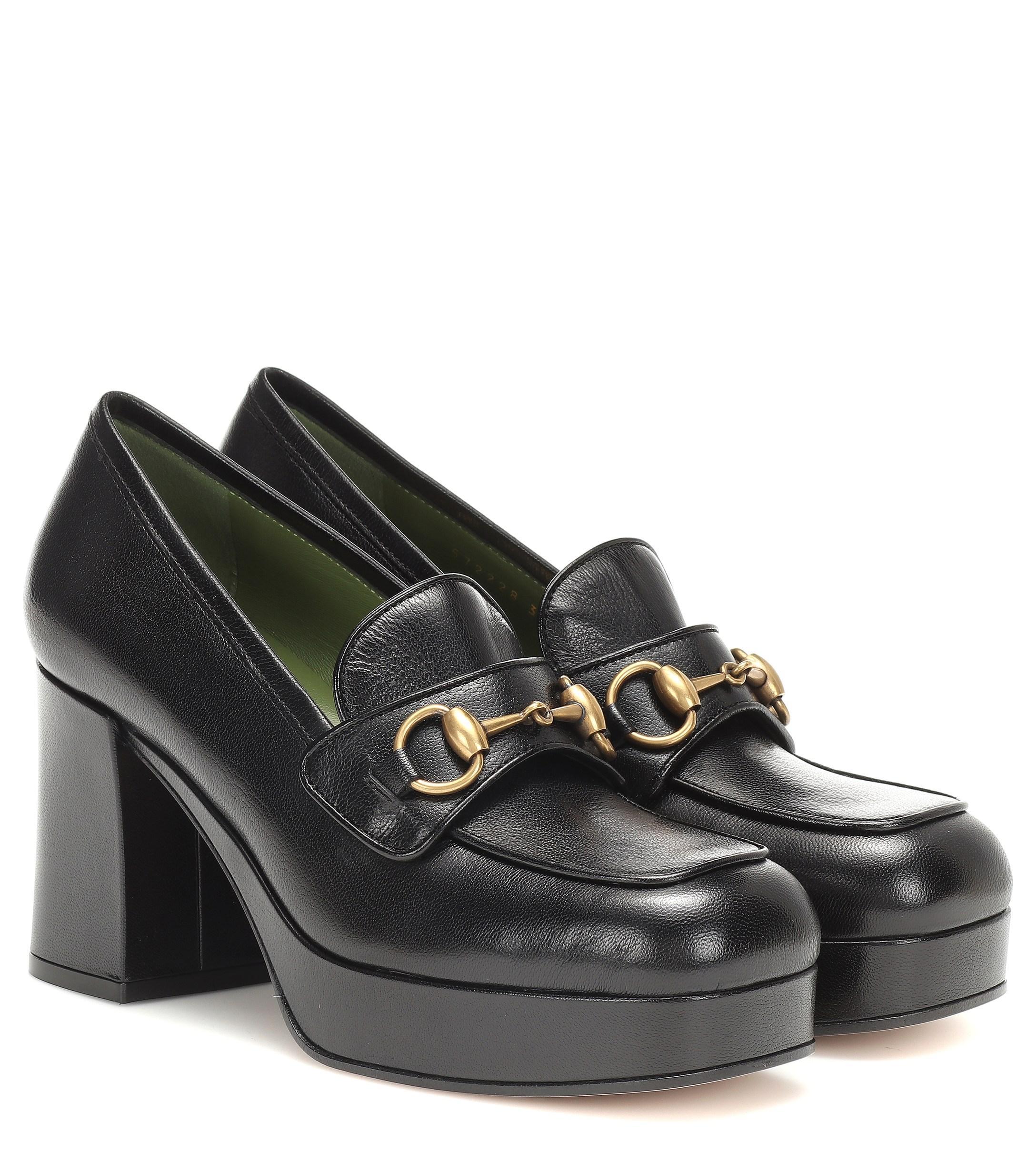 91d881d4e18 Gucci. Women s Black Horsebit Leather Loafer Court Shoes
