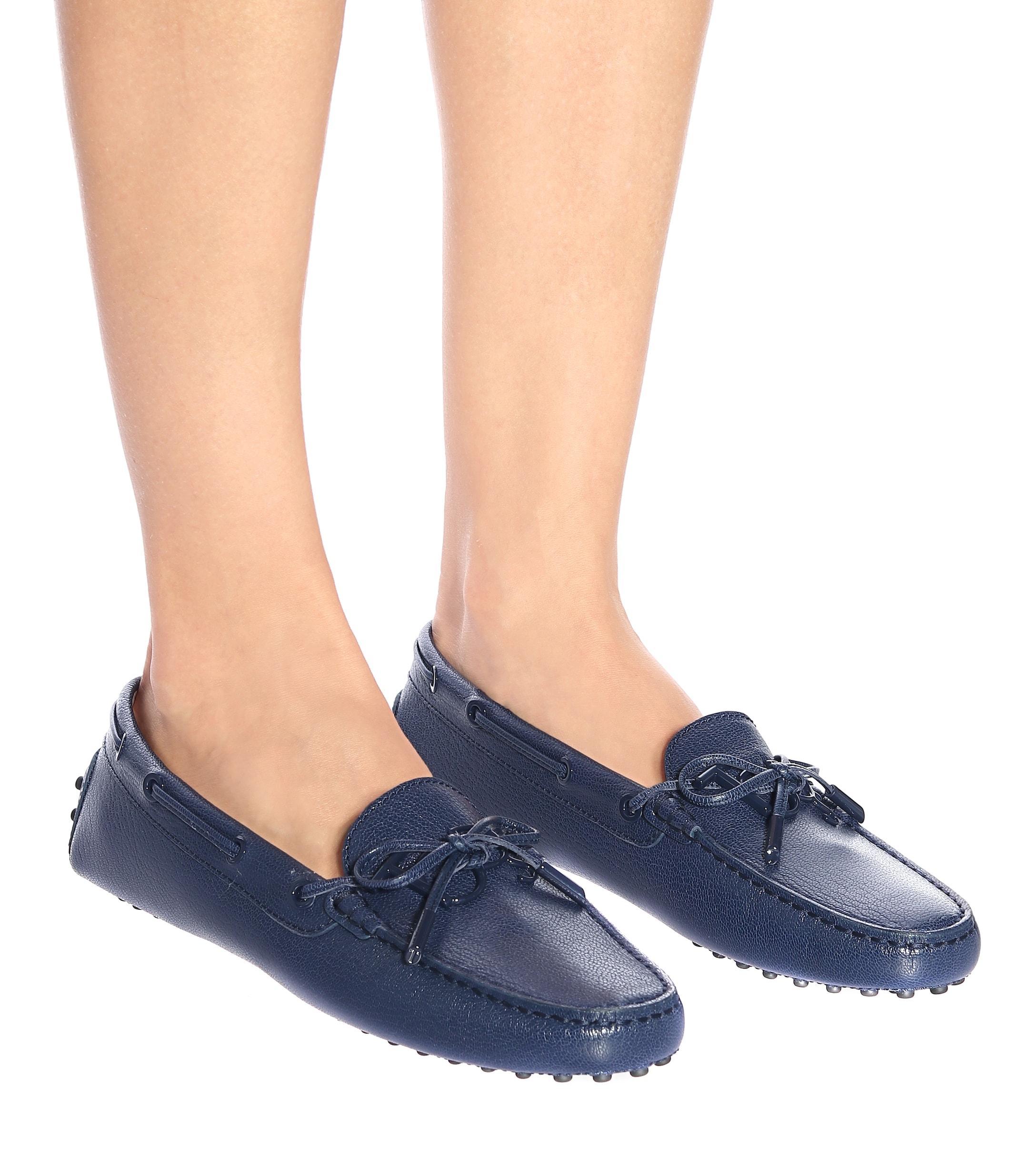 Mocasines Gommino de piel Tod's de Cuero de color Azul