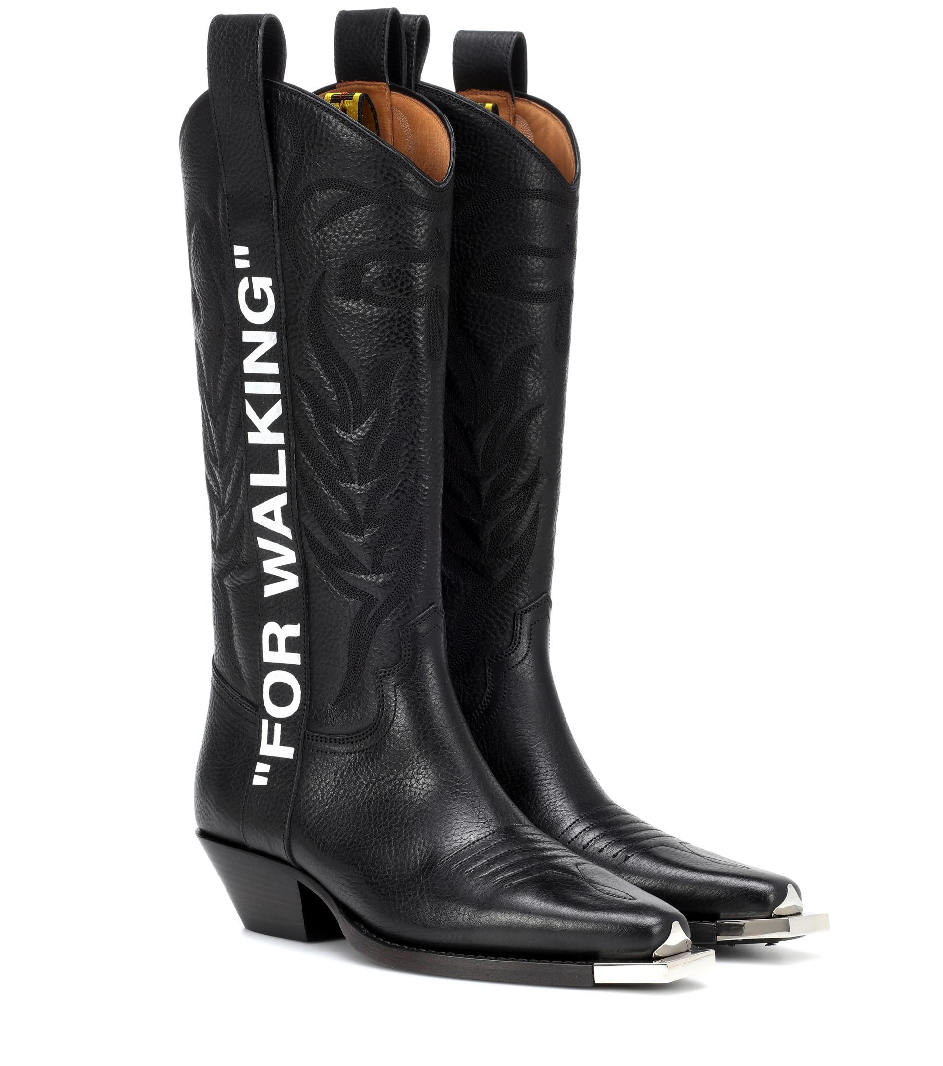 multiple colors big discount reasonably priced Off-White c/o Virgil Abloh Leather For Walking Cowboy Boots in ...