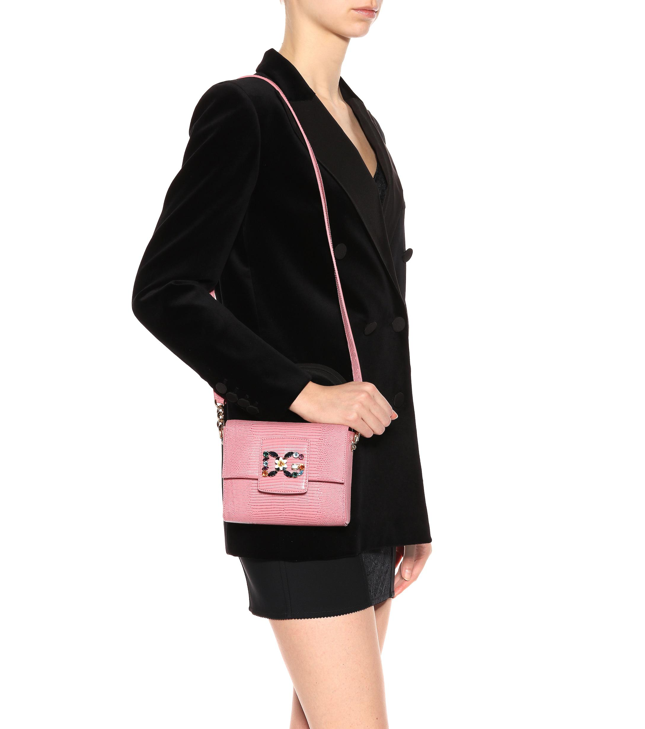 Dolce   Gabbana - Pink Dg Millennials Mini Leather Shoulder Bag - Lyst.  View fullscreen 26630b993e0ff