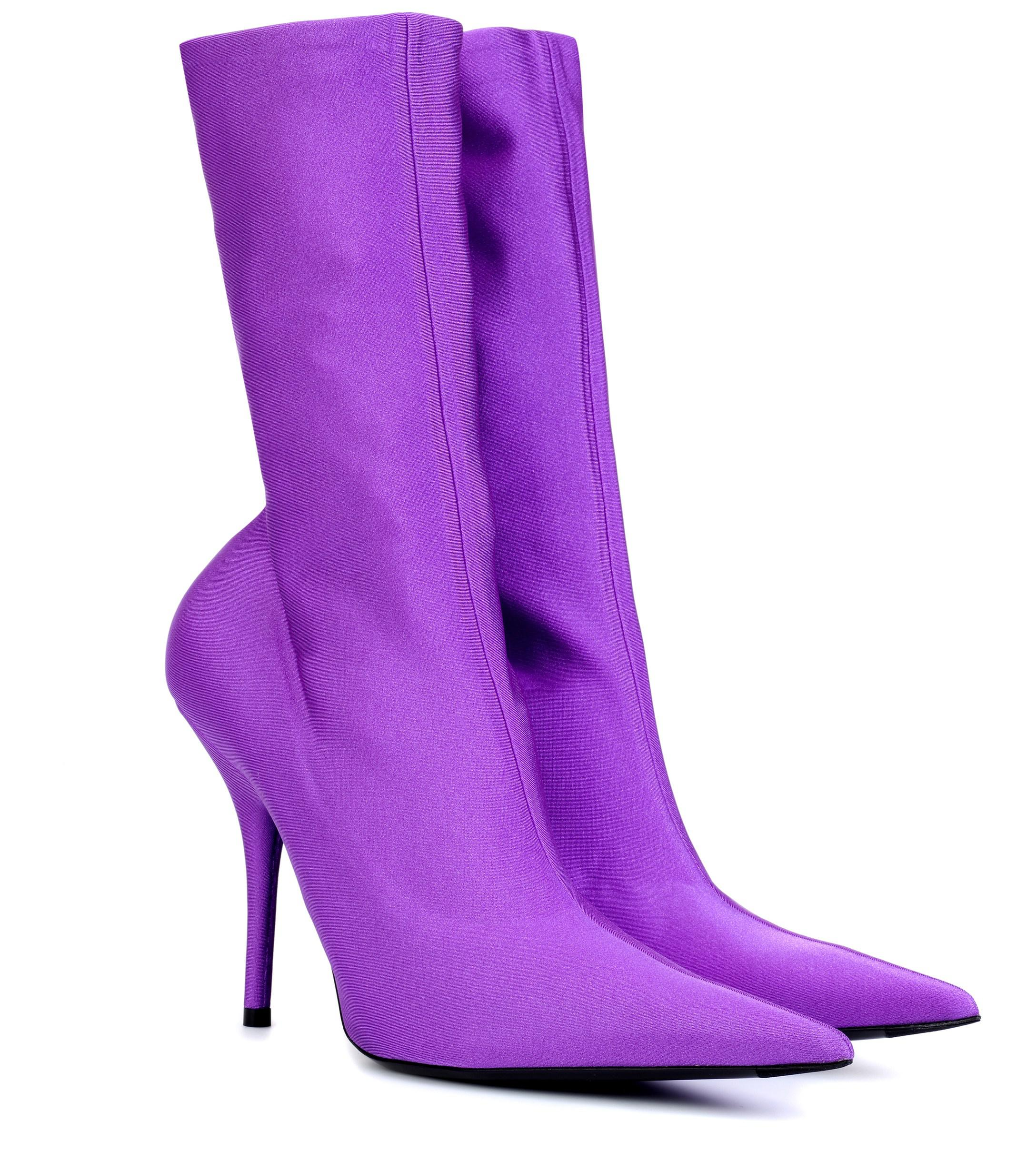 a81e5ad3626 Balenciaga Knife 110 Boots in Purple - Save 50% - Lyst