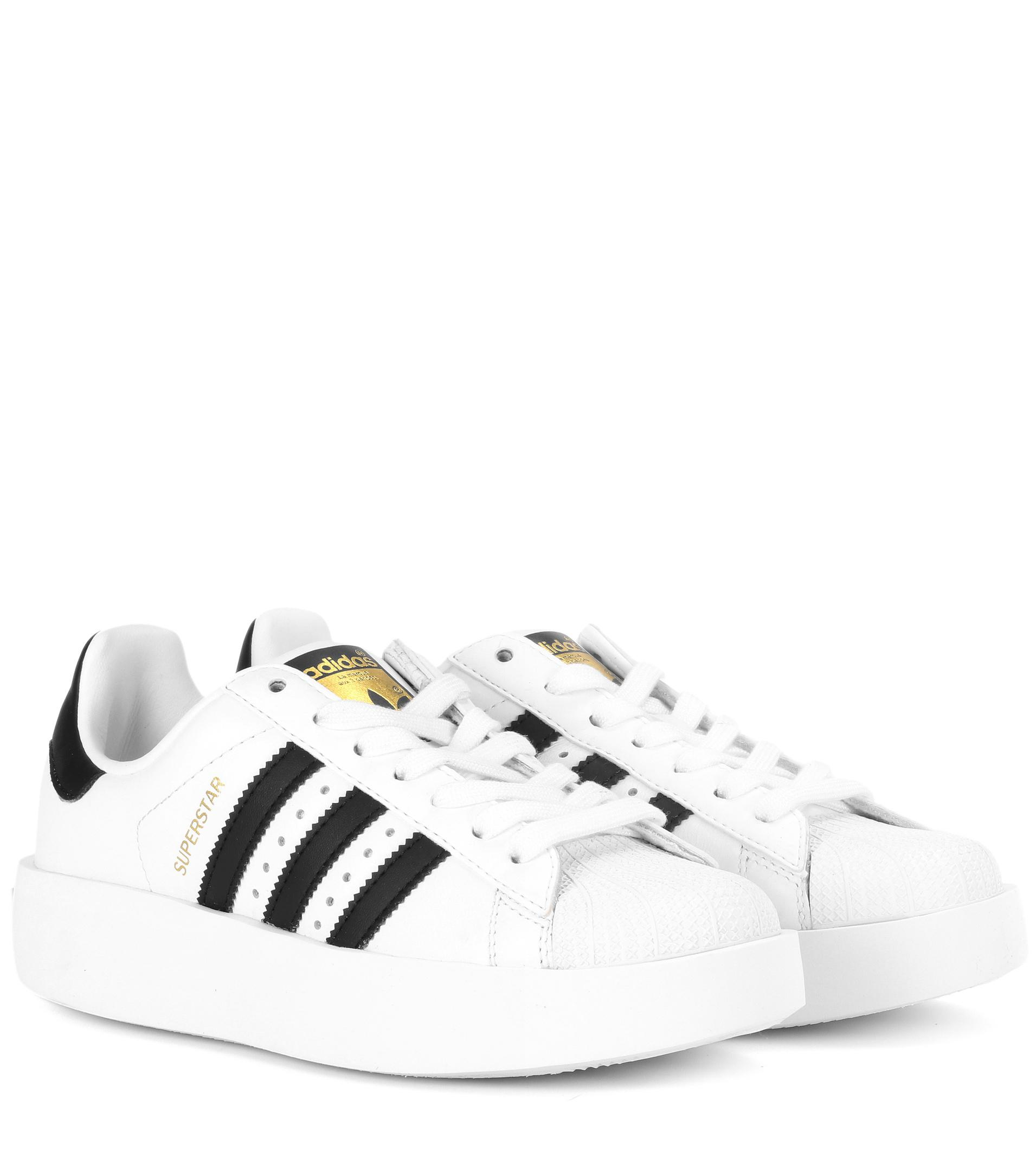 reputable site a6bef b6d17 ... sale adidas originals. womens white superstar bold leather sneakers  e0def f1e23