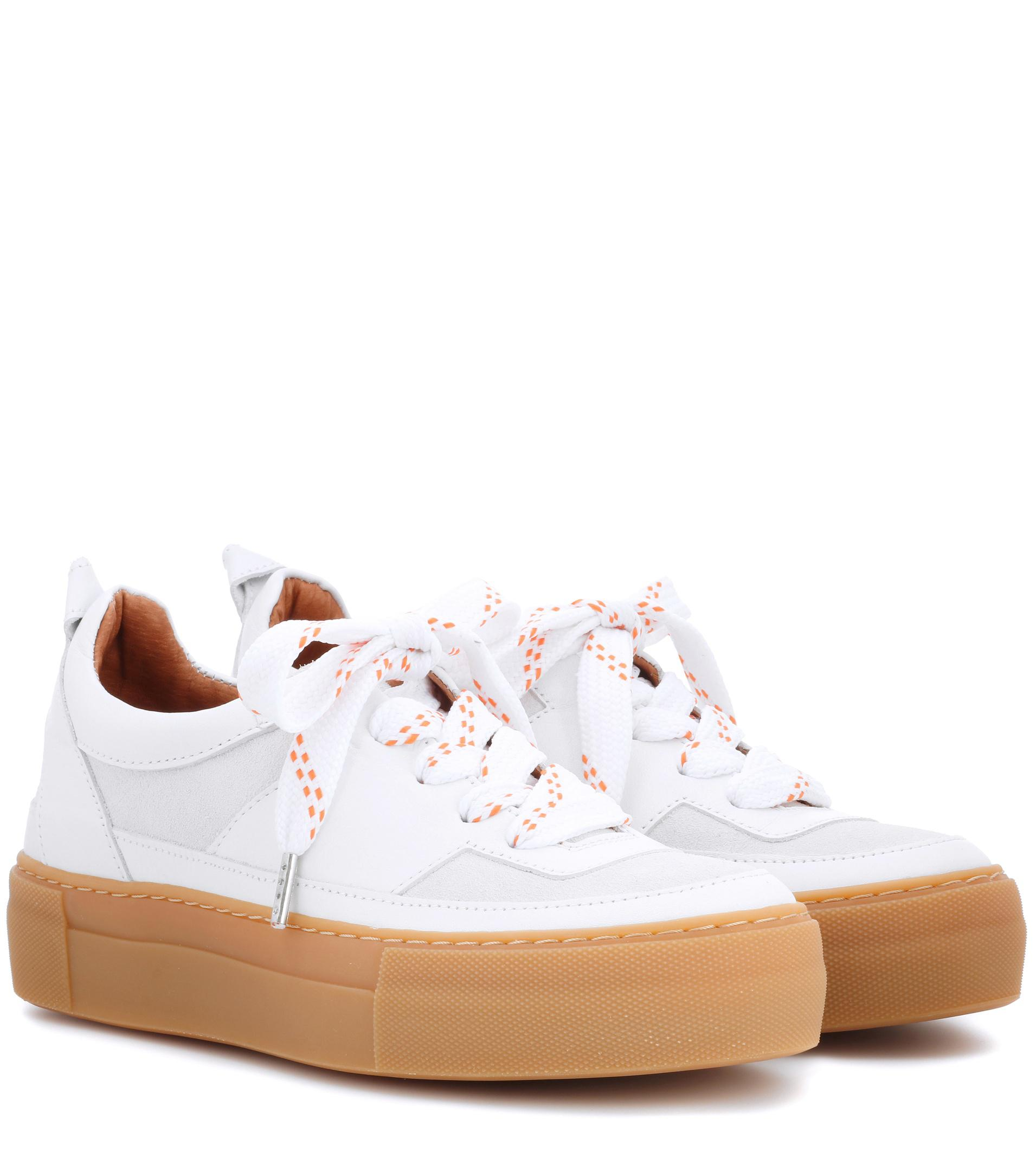 Ganni Corinne Leather Platform Sneakers