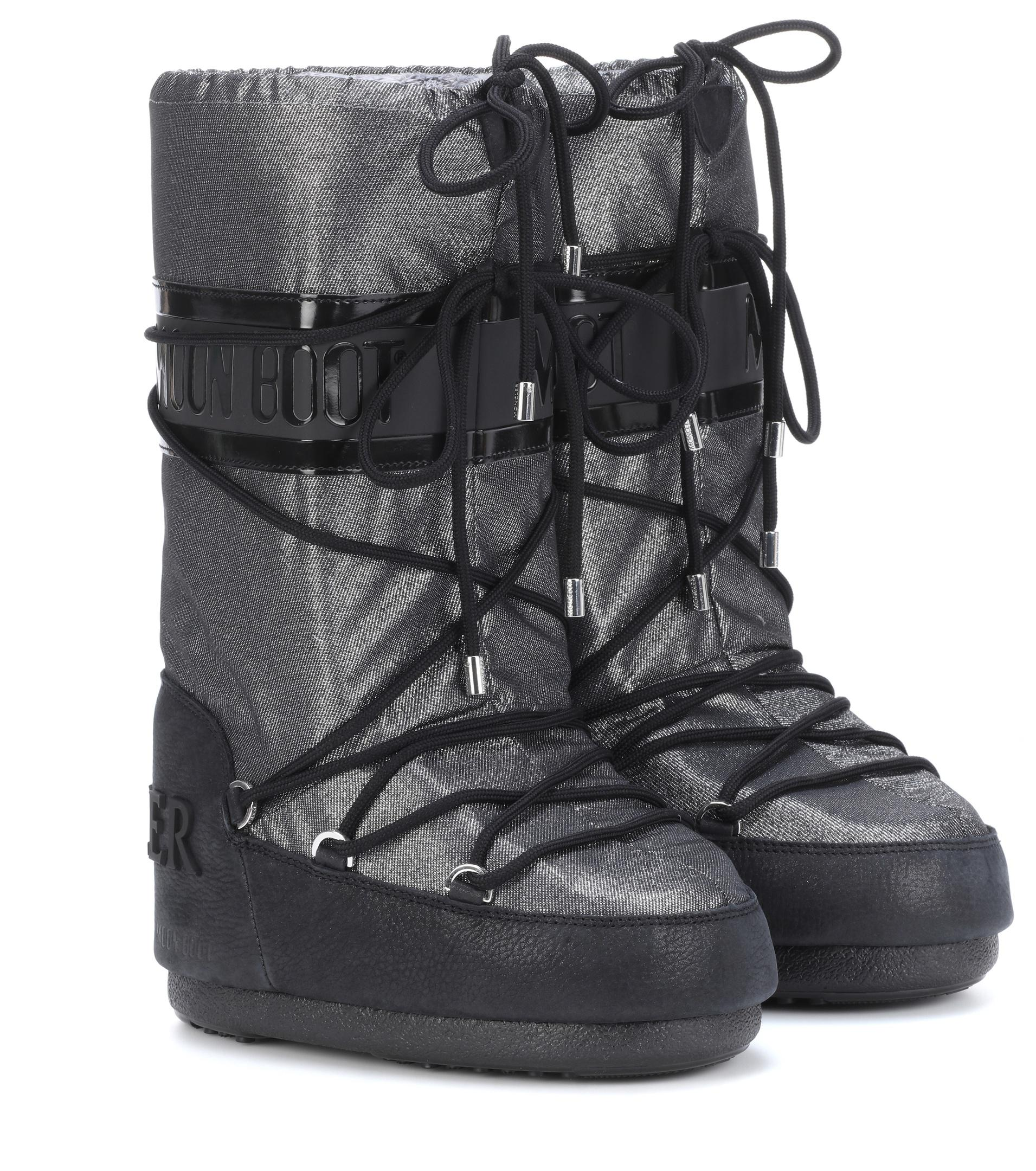 d1507c3424fe Moncler X Moon Boot® Ankle Boots in Metallic - Lyst