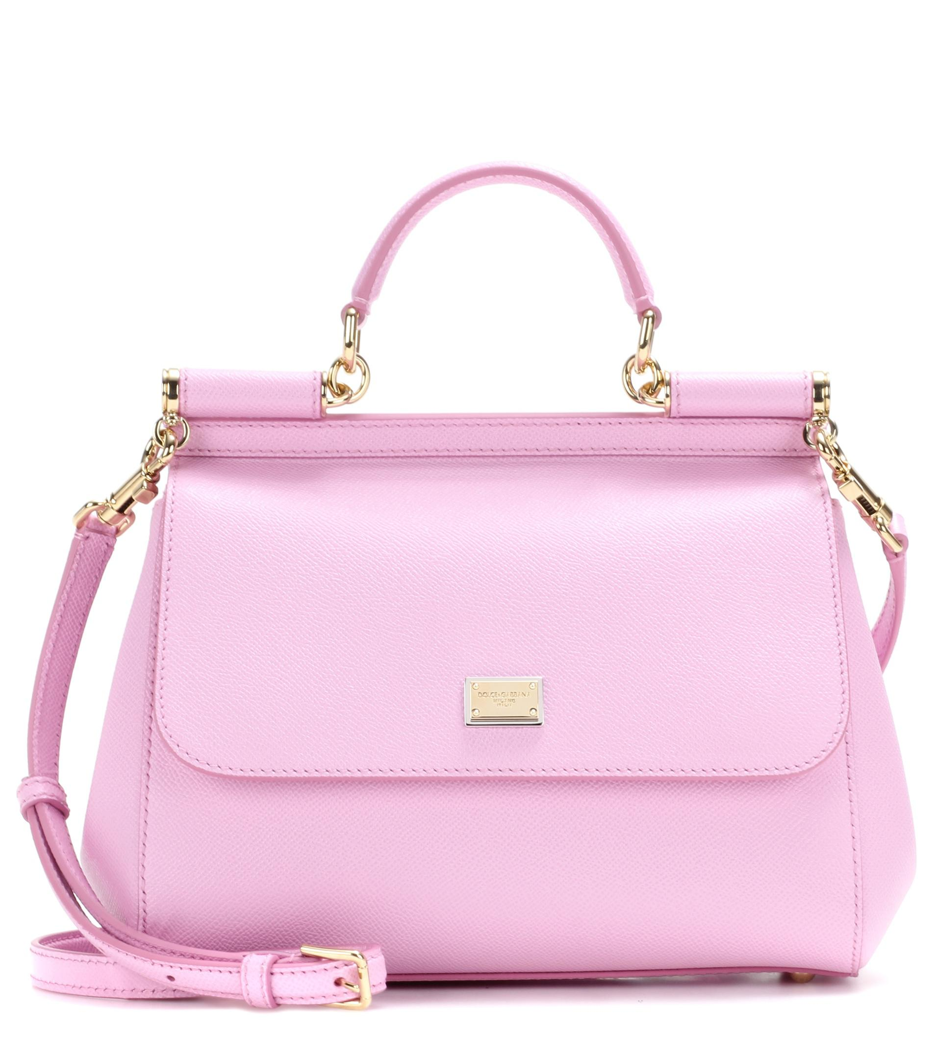 pink Sicily medium leather tote - Pink & Purple Dolce & Gabbana y31k0JCQ