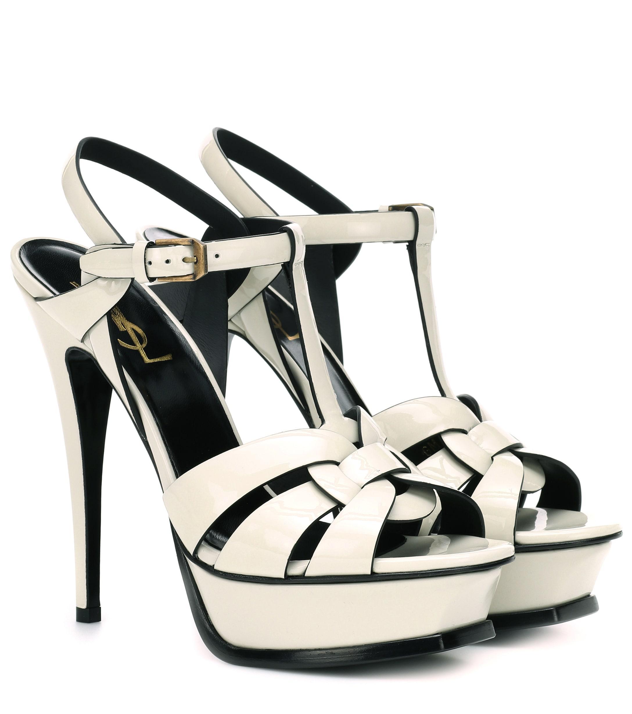 e5059292edd9 Saint Laurent. Women s Tribute 105 Patent Leather Sandals