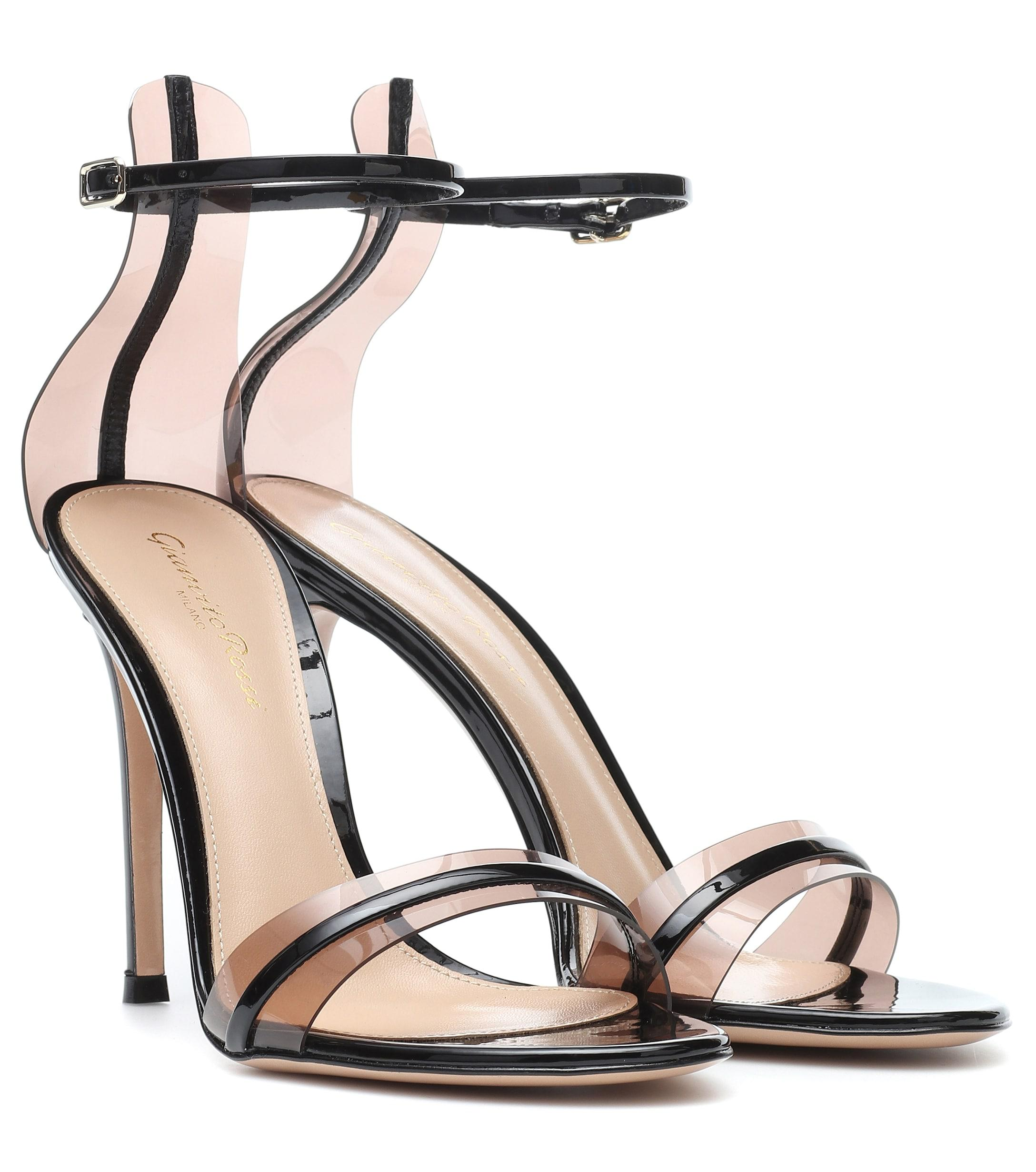 c6965de12d91 Lyst - Gianvito Rossi G-string 105 Patent Leather Sandals in Black