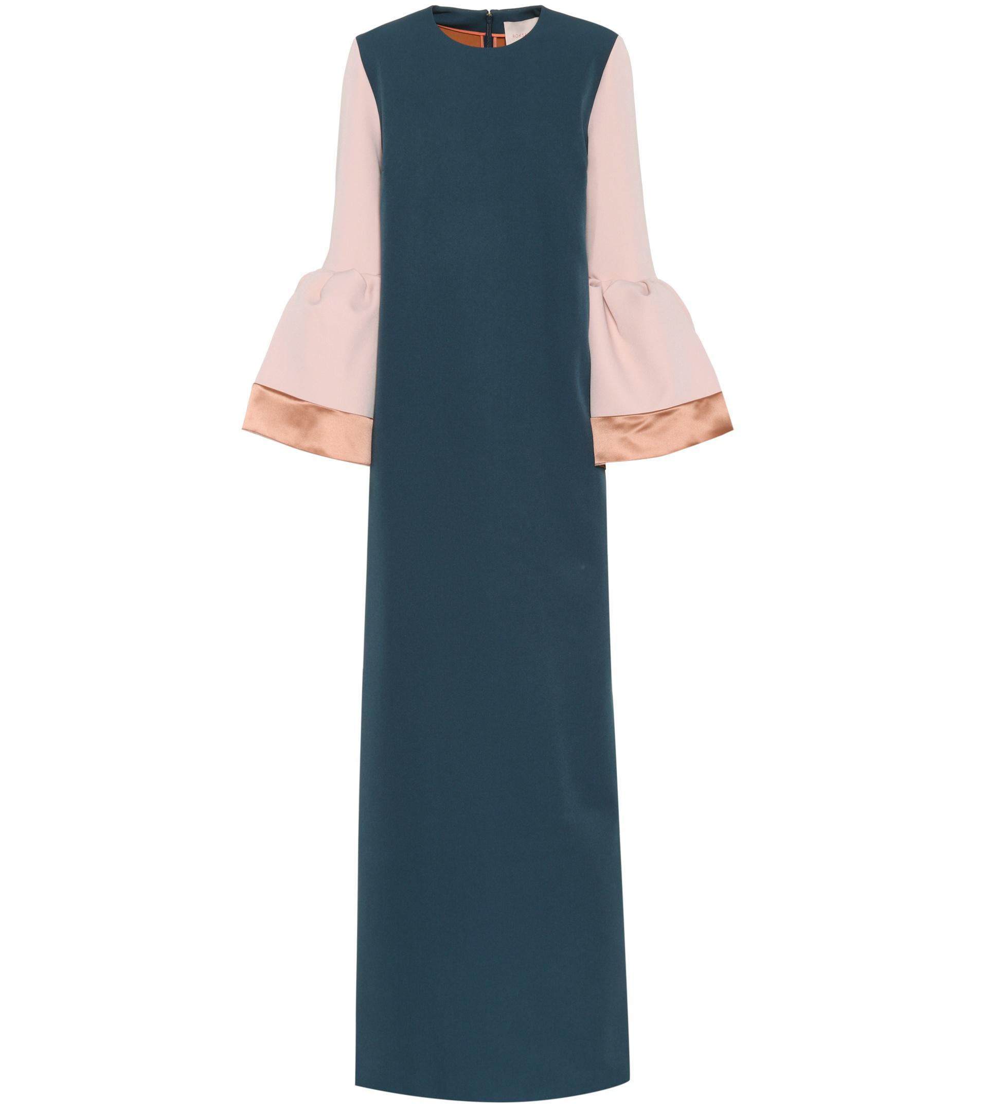 Litani bell-cuff stretch-crepe dress Roksanda Ilincic qSKyToF