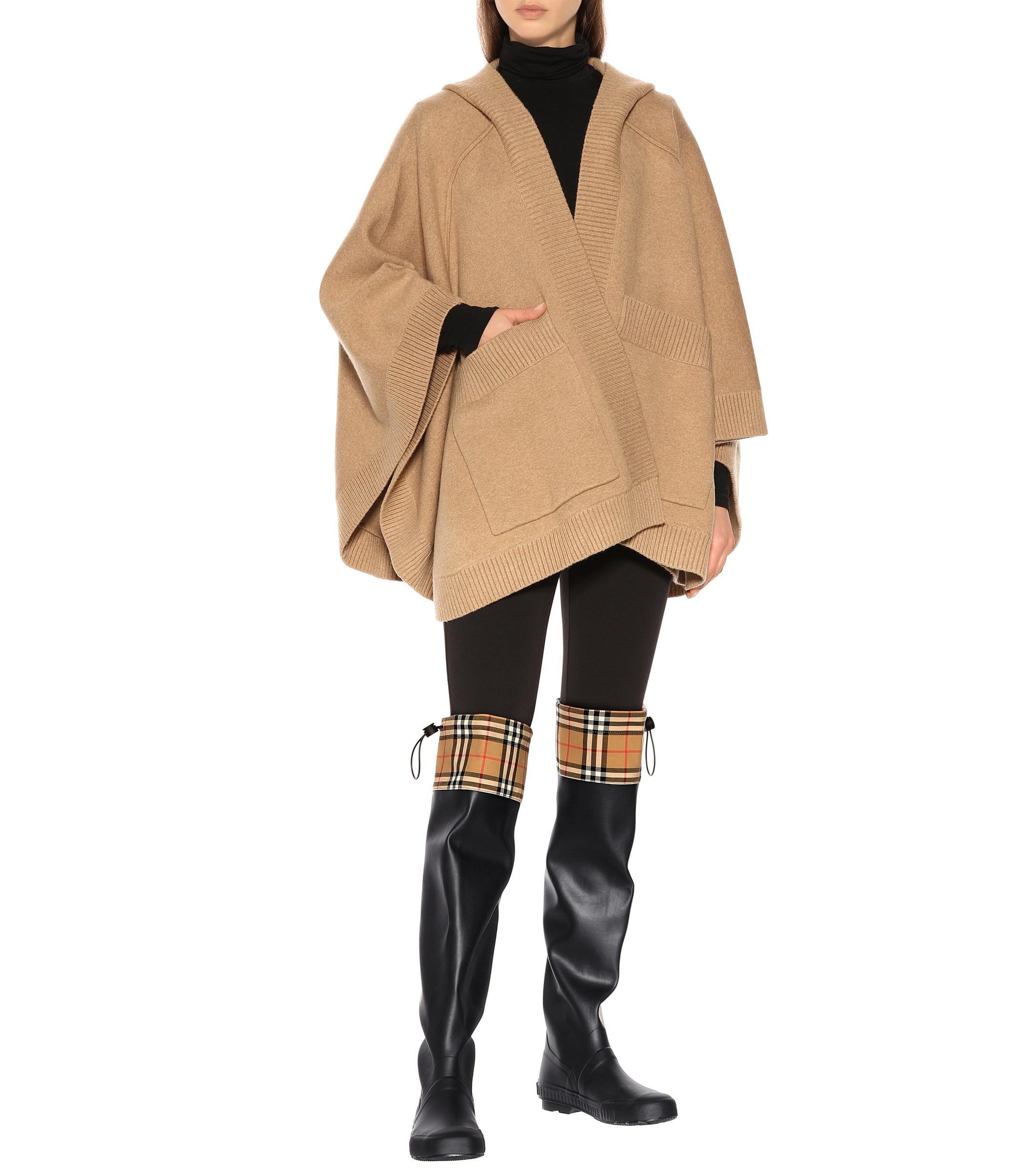 d1e226433c40 Burberry - Black Freddie Vintage Check Rain Boots - Lyst. View fullscreen