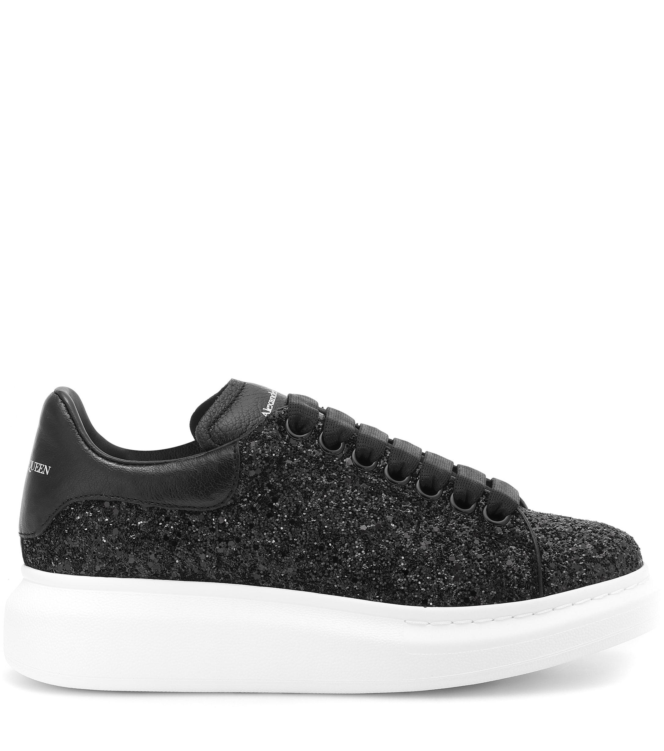 Black Glitter Oversized Sneakers