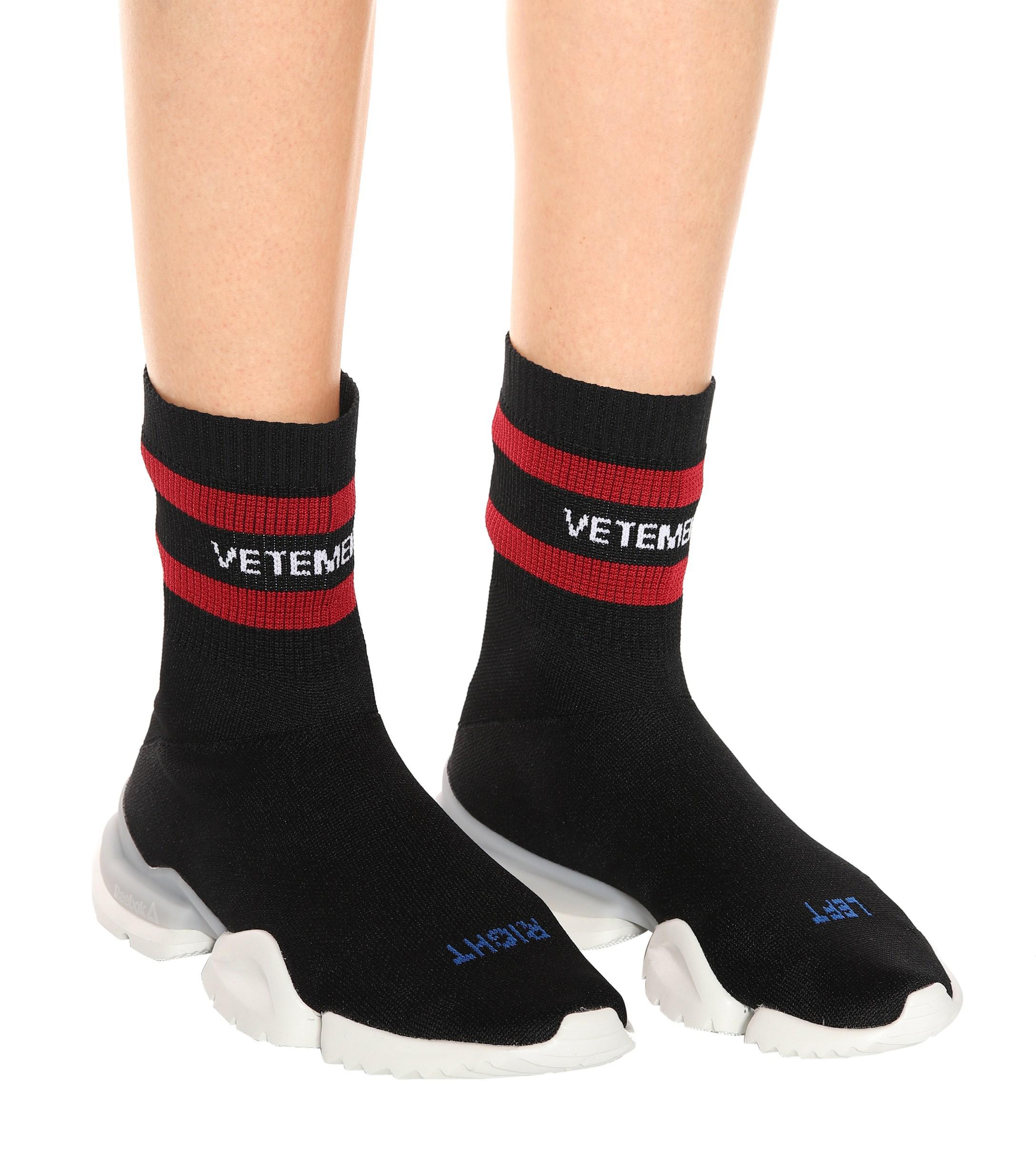 vetements reebok shoes sock