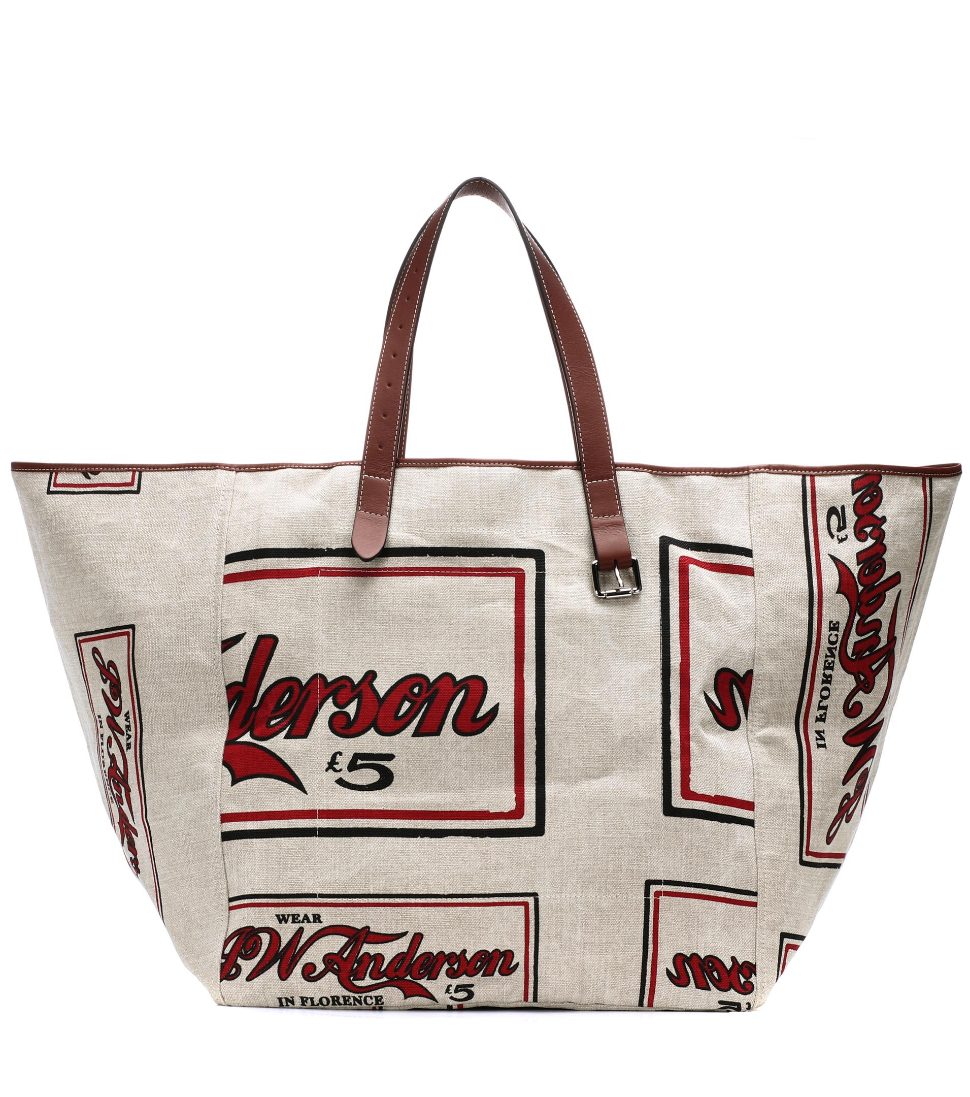 Printed linen tote J.W.Anderson
