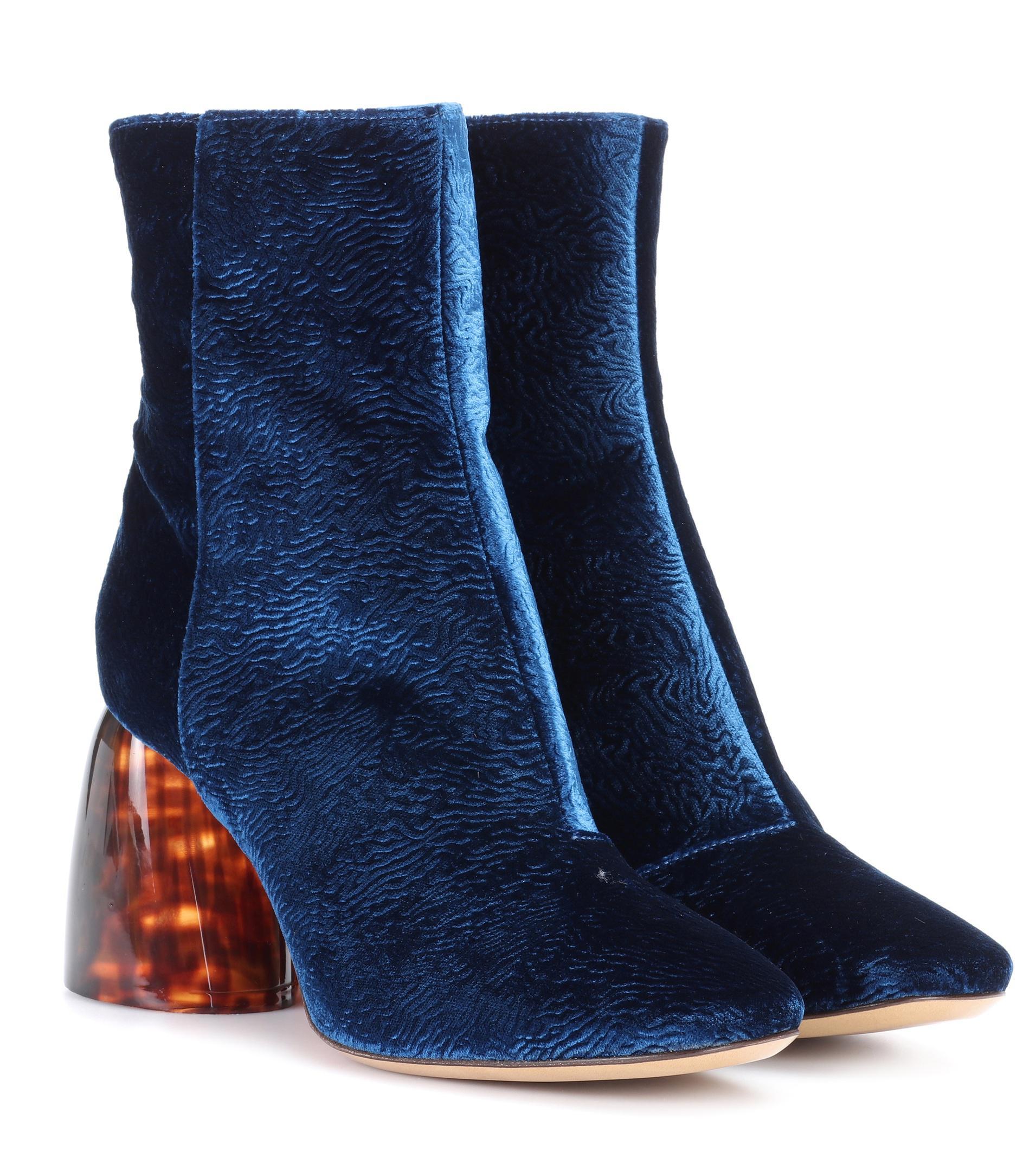 Chelsea velvet ankle boots Ellery 50fB9