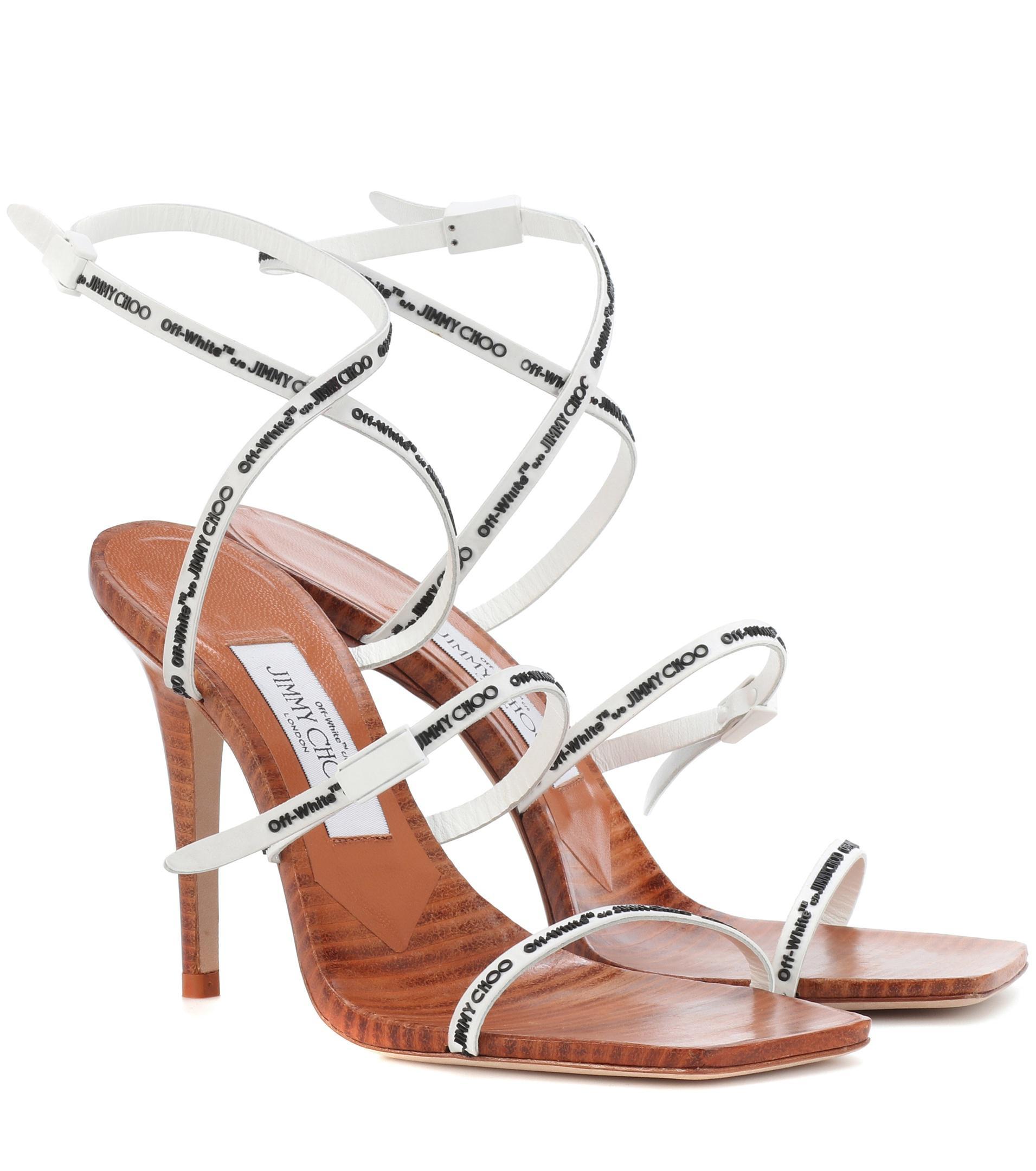 67c833207b686 Jimmy Choo Brown X Off-white Jane 100 Sandals