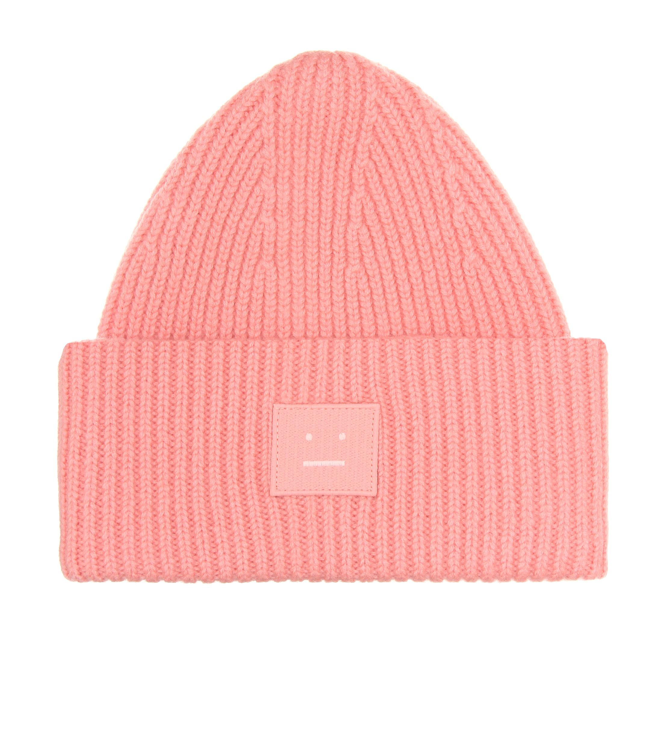a64ea822a83 Acne Pansy N Face Wool Beanie in Pink - Save 5.5% - Lyst