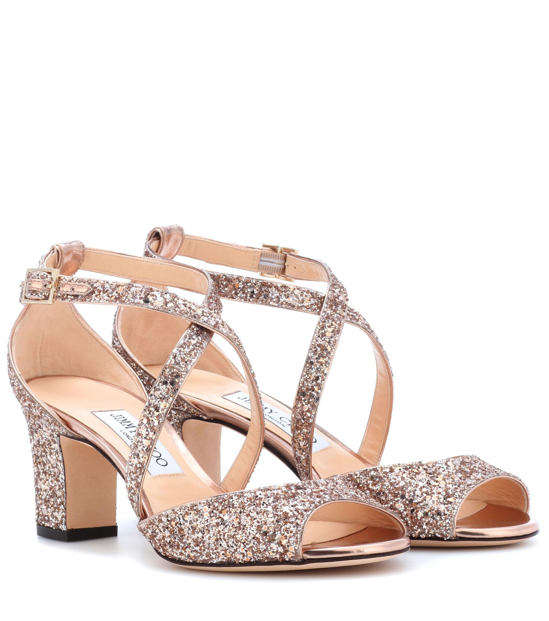 Jimmy choo Carrie 100 glitter sandals Smy16gZehJ