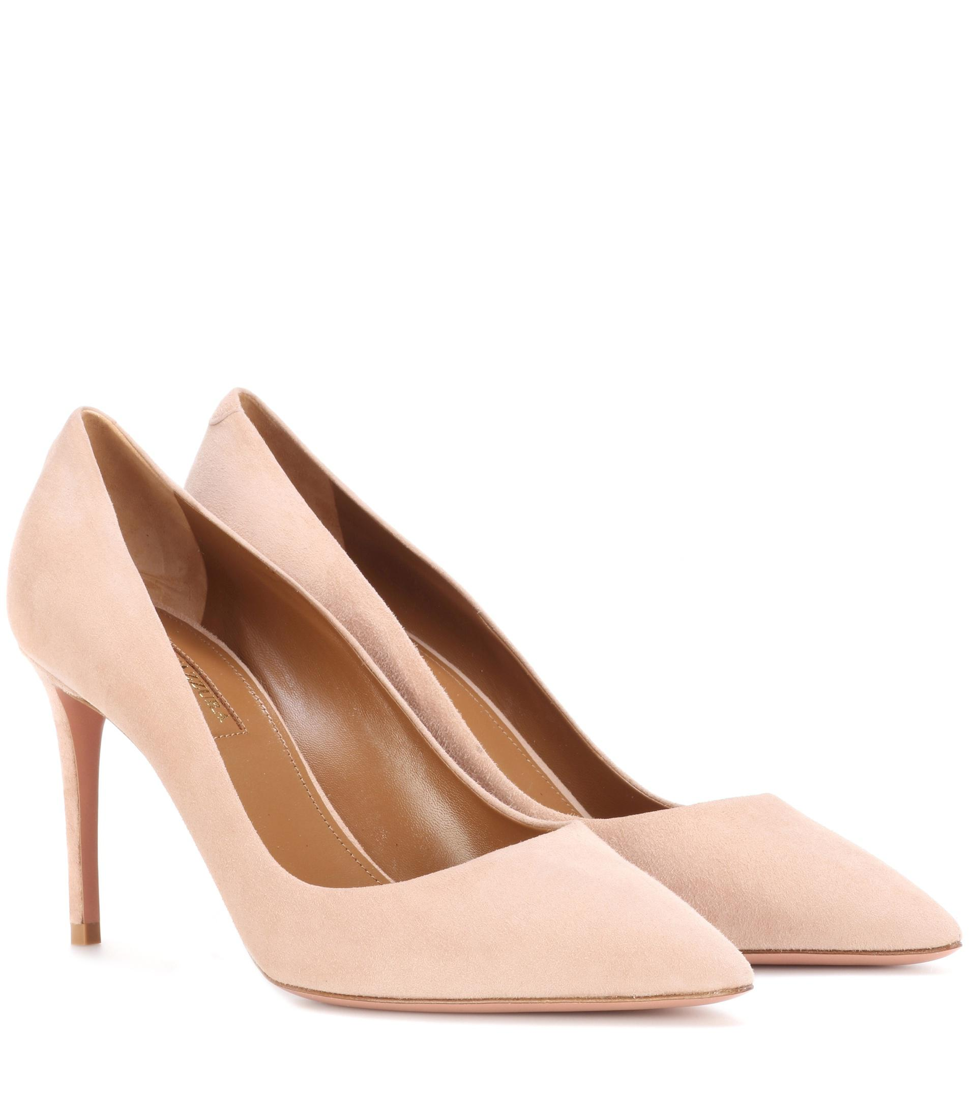 Pure 45 suede slingback pumps Aquazzura