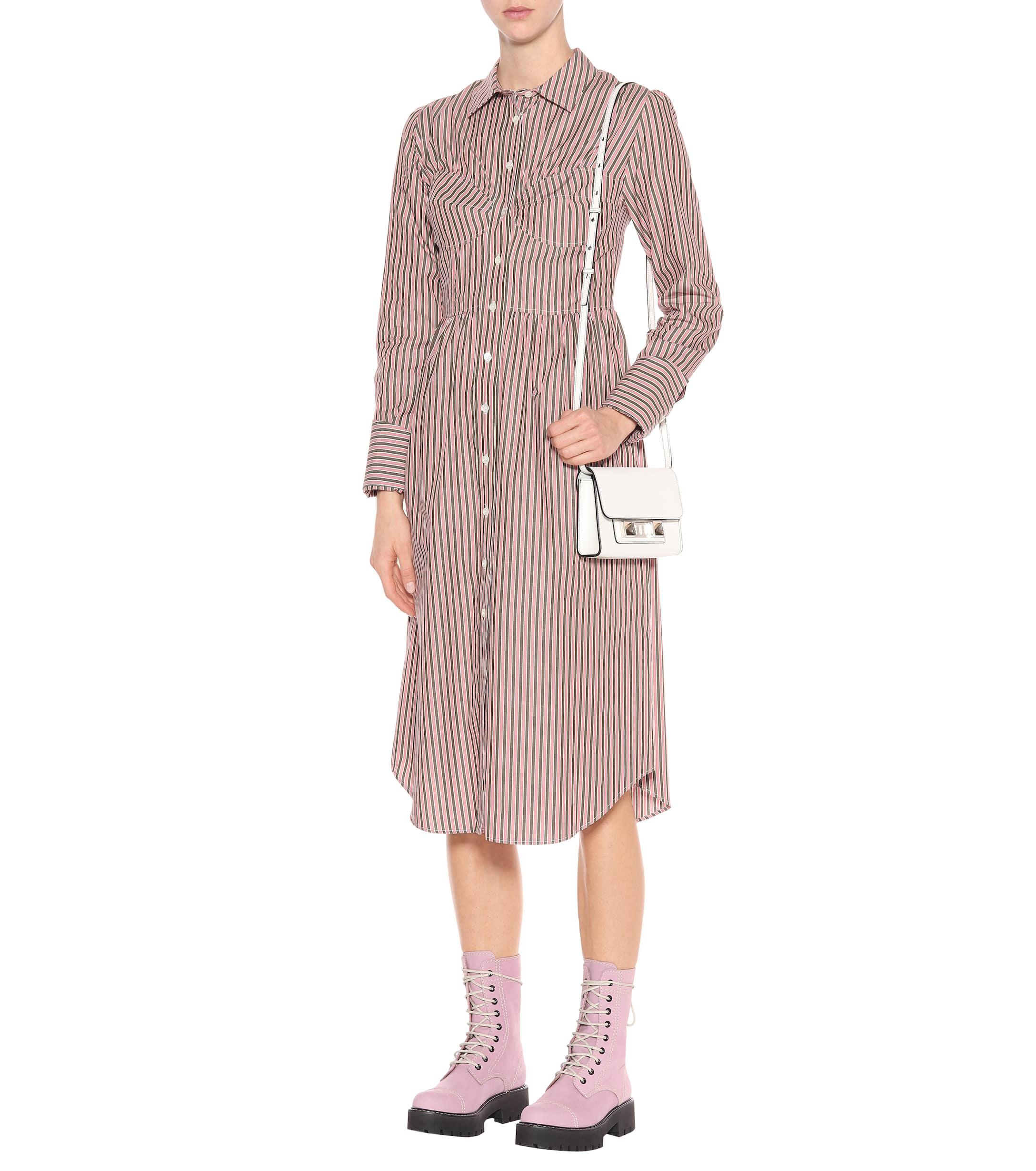 Robe chemise en coton à rayures ALEXACHUNG en coloris Rose