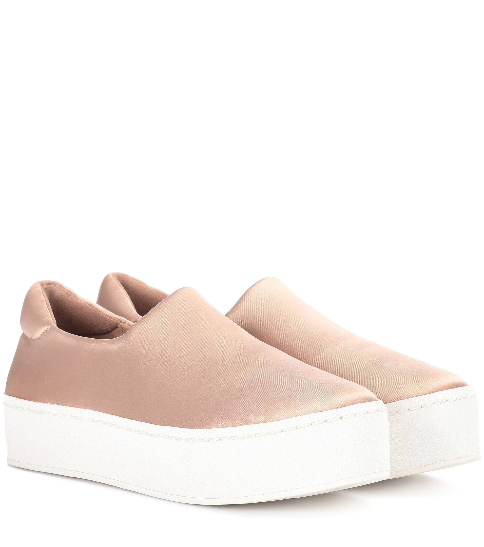 Opening Ceremony Cici Satin Platform Sneakers in Nude (Natural)