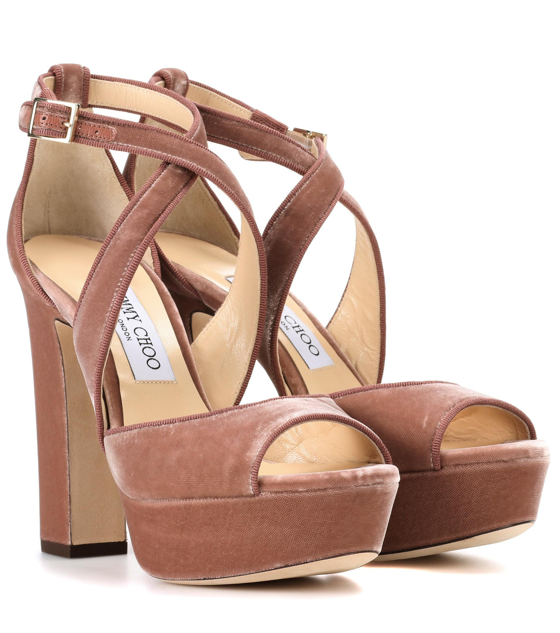 aaef5368397 Jimmy Choo April Platform Sandal - Lyst