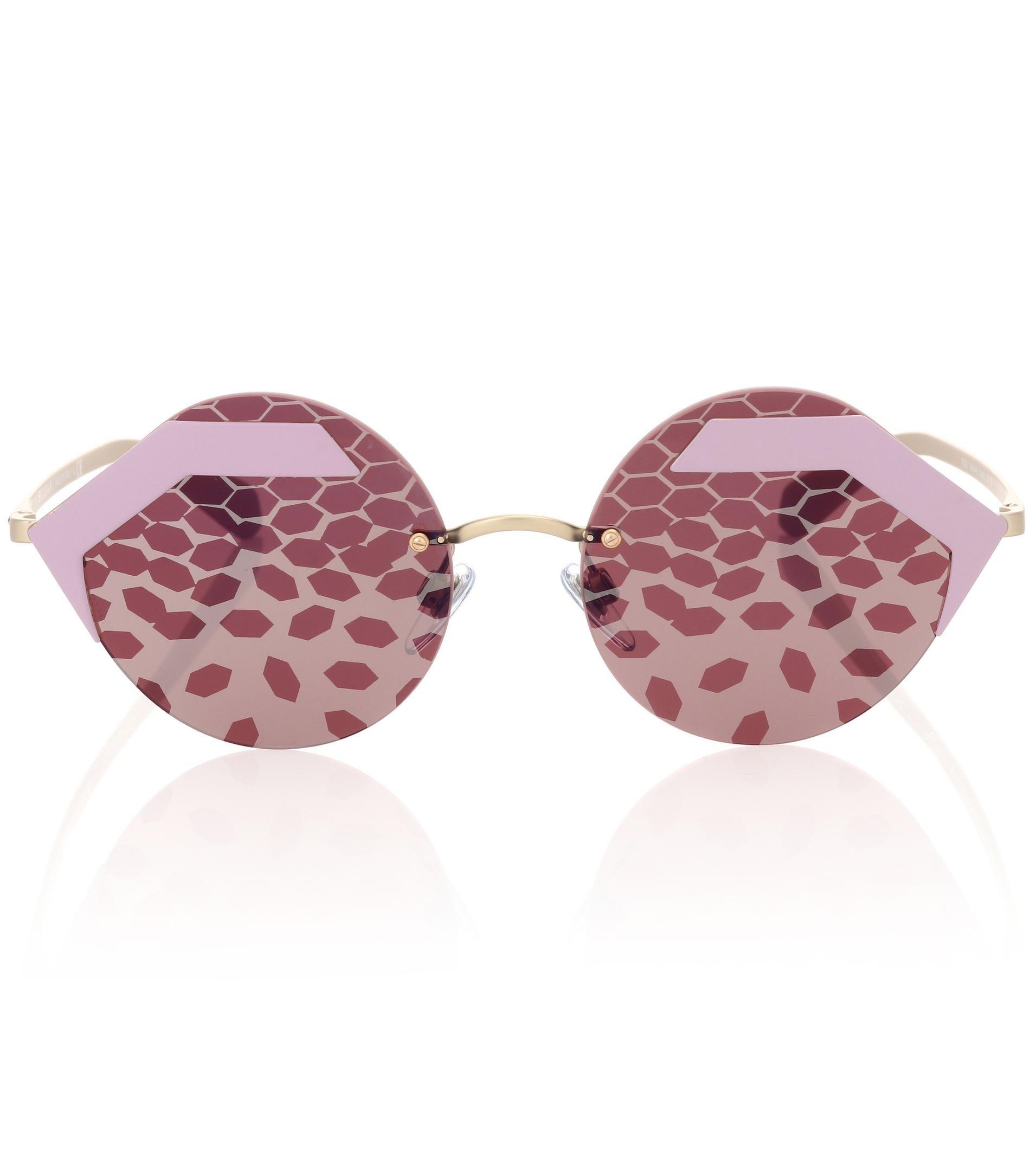 abf272fe58 Redondas Serpenteyes Lyst Gafas Bvlgari Sol Rosa Color De PX8nwk0O