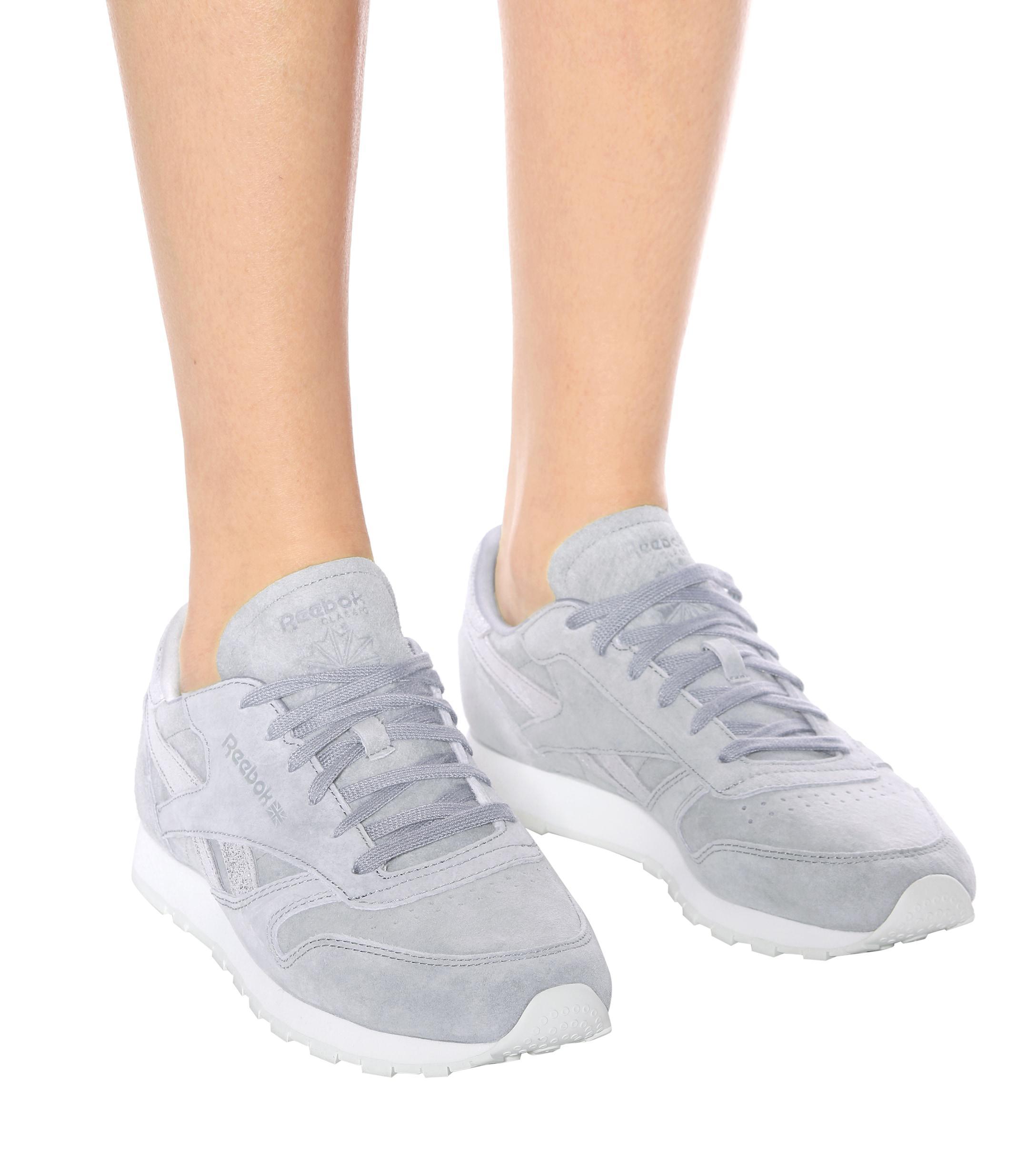 Zapatillas de cuero Classic Shimmer Reebok de Cuero de color Gris