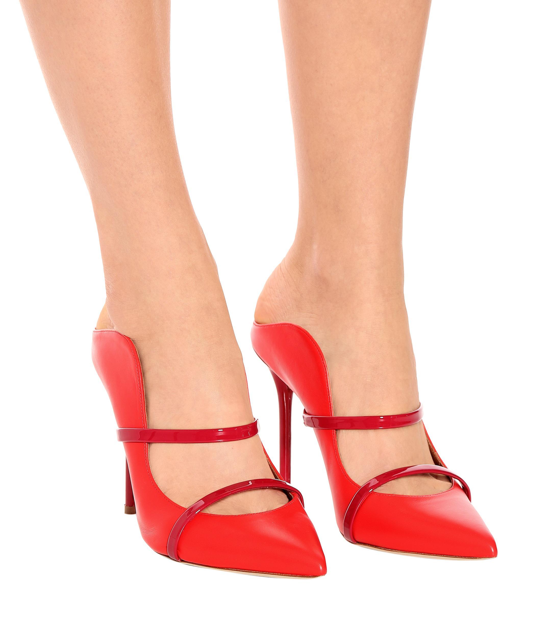 Mules Maureen 100 de piel Malone Souliers de Cuero de color Rojo