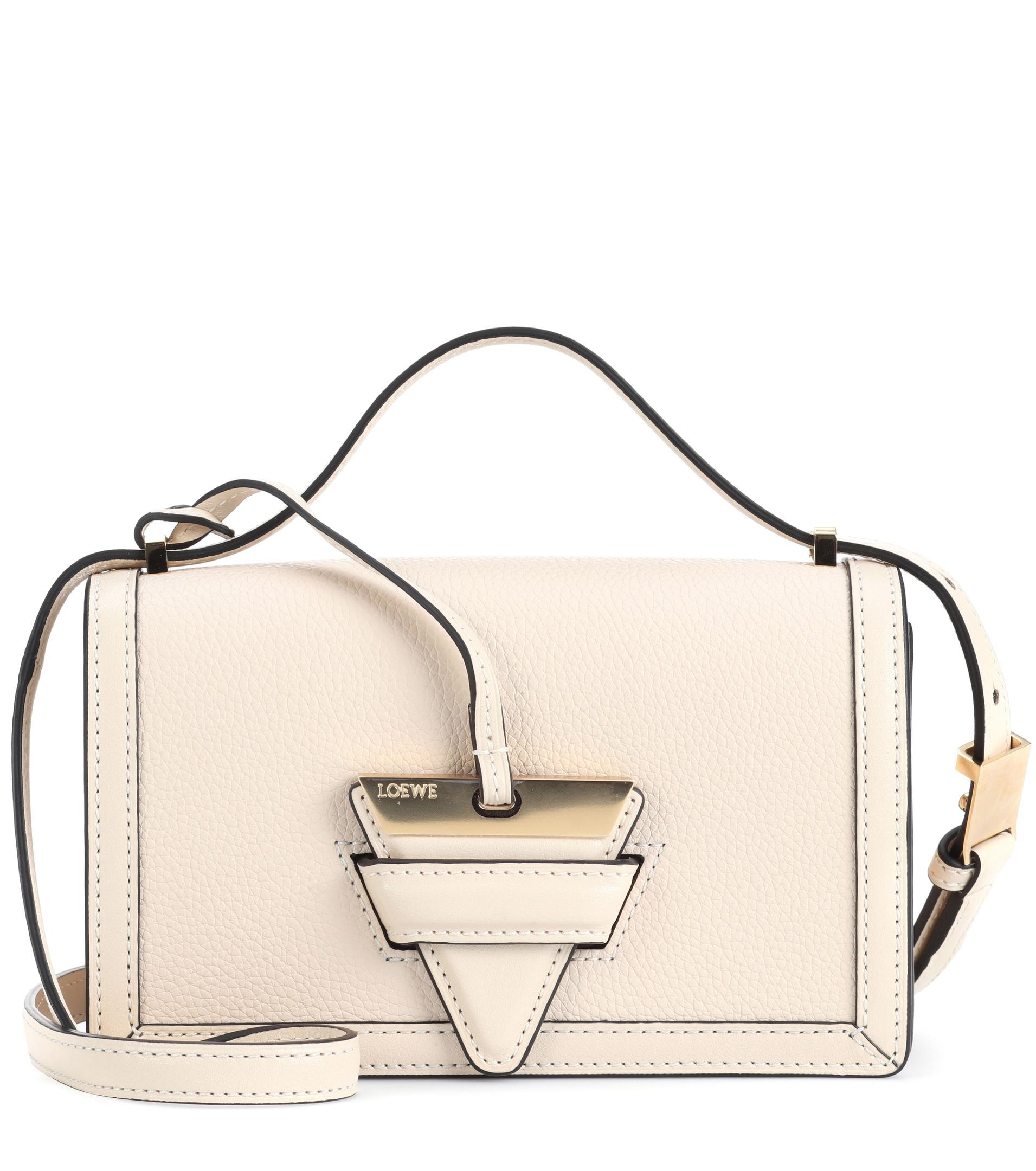 a039b3e4cd Lyst - Loewe Barcelona Small Leather Shoulder Bag in White