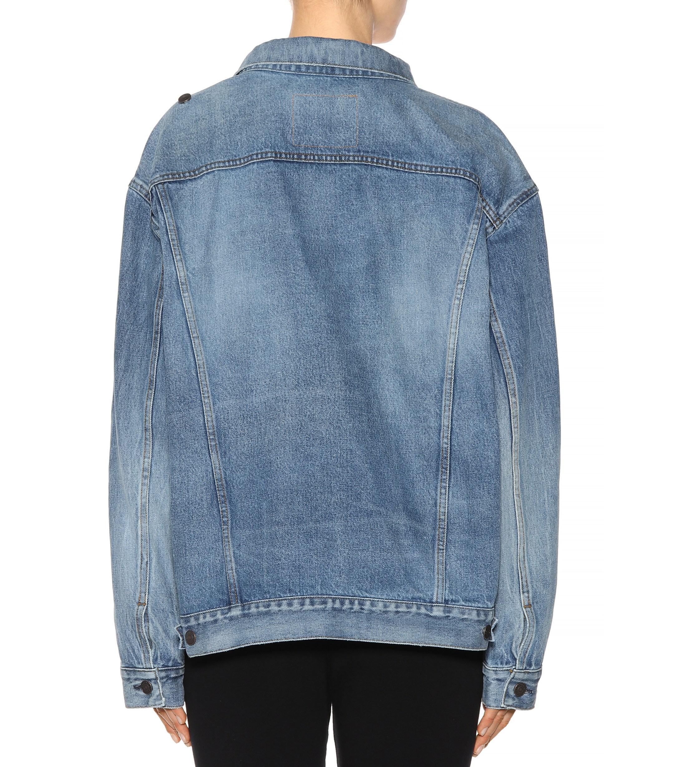 d627f0eca1294a Balenciaga Denim Jacket in Blue - Lyst