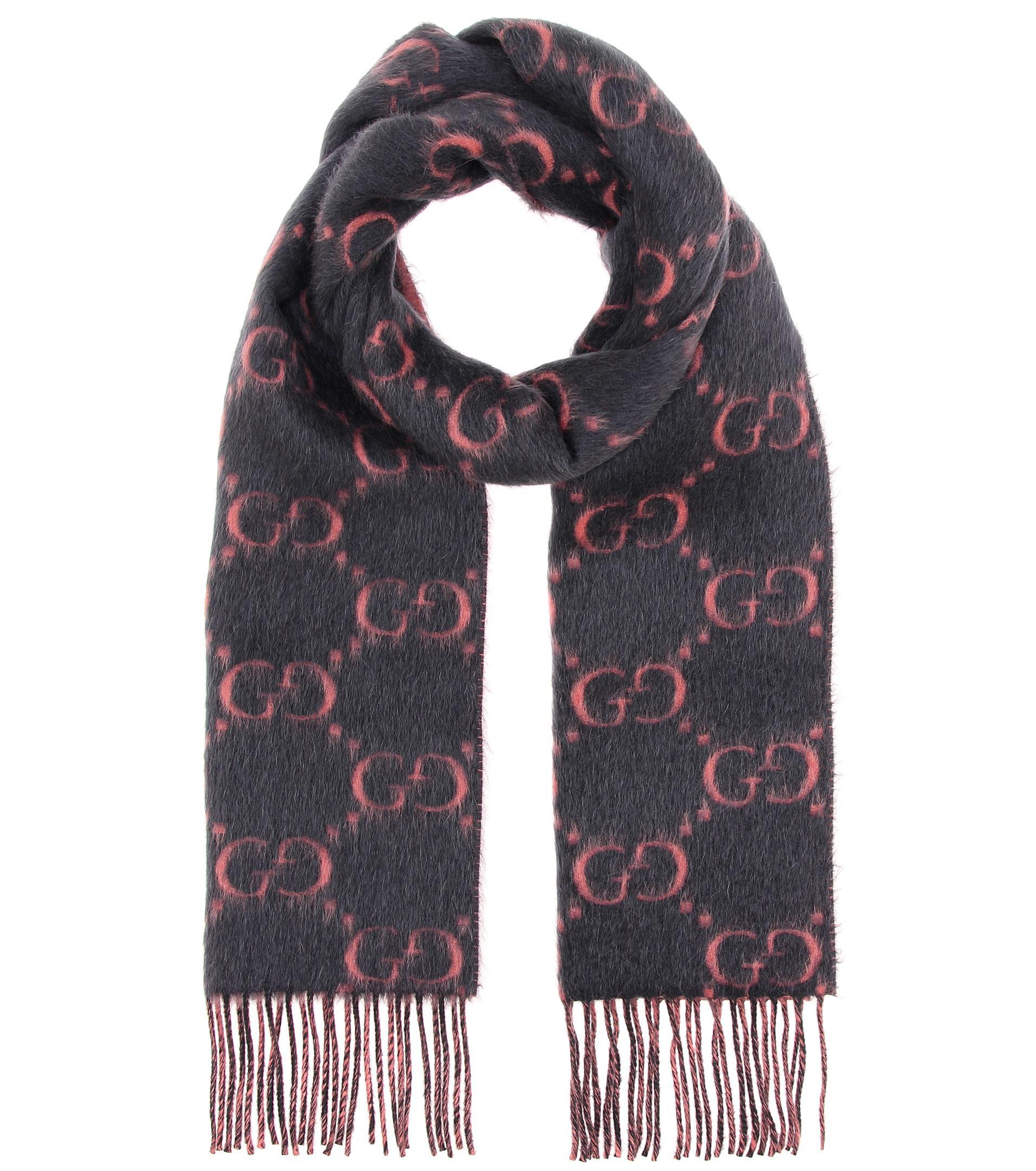 Sonderpreis für absolut stilvoll vollständig in den Spezifikationen Gucci Gray Schal aus Alpaka und Wolle
