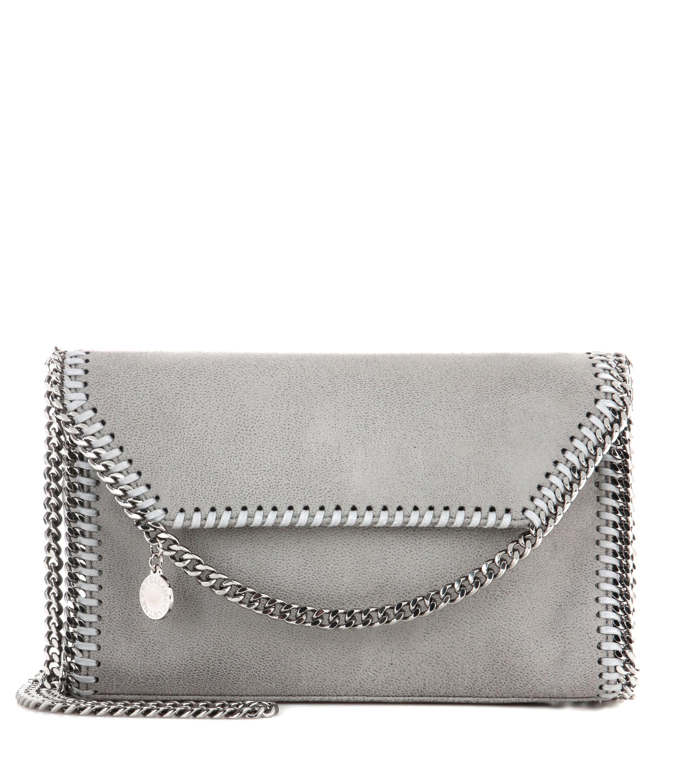 62fe9ce4d3 Lyst - Stella McCartney Falabella Shaggy Deer Shoulder Bag in Gray